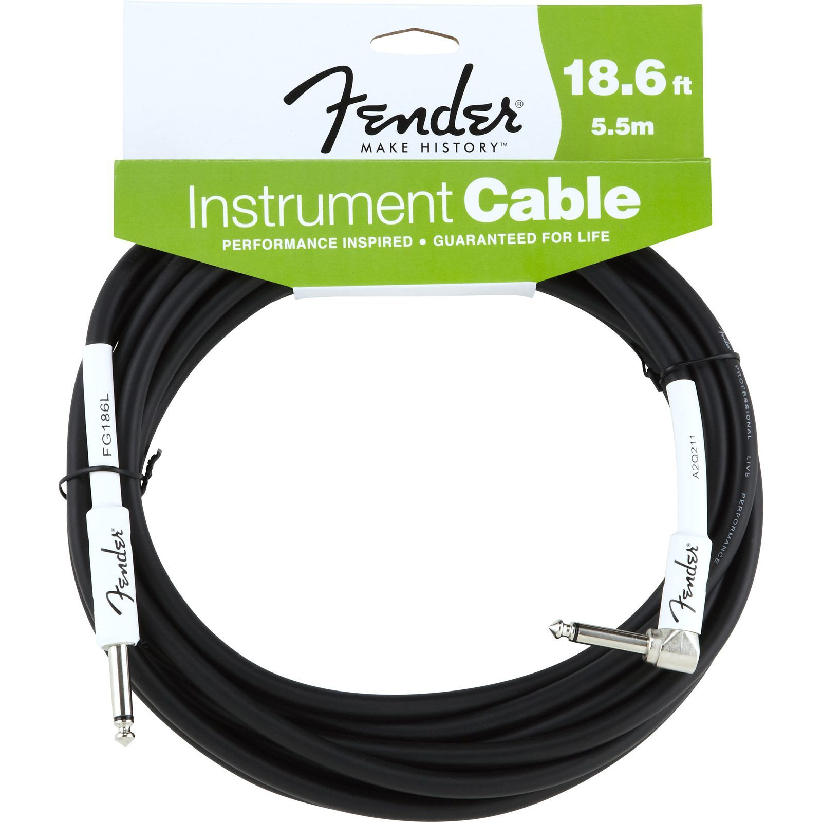 Fender Performance Cable 5.5m BK Black, Kli/WKli Produktbillede