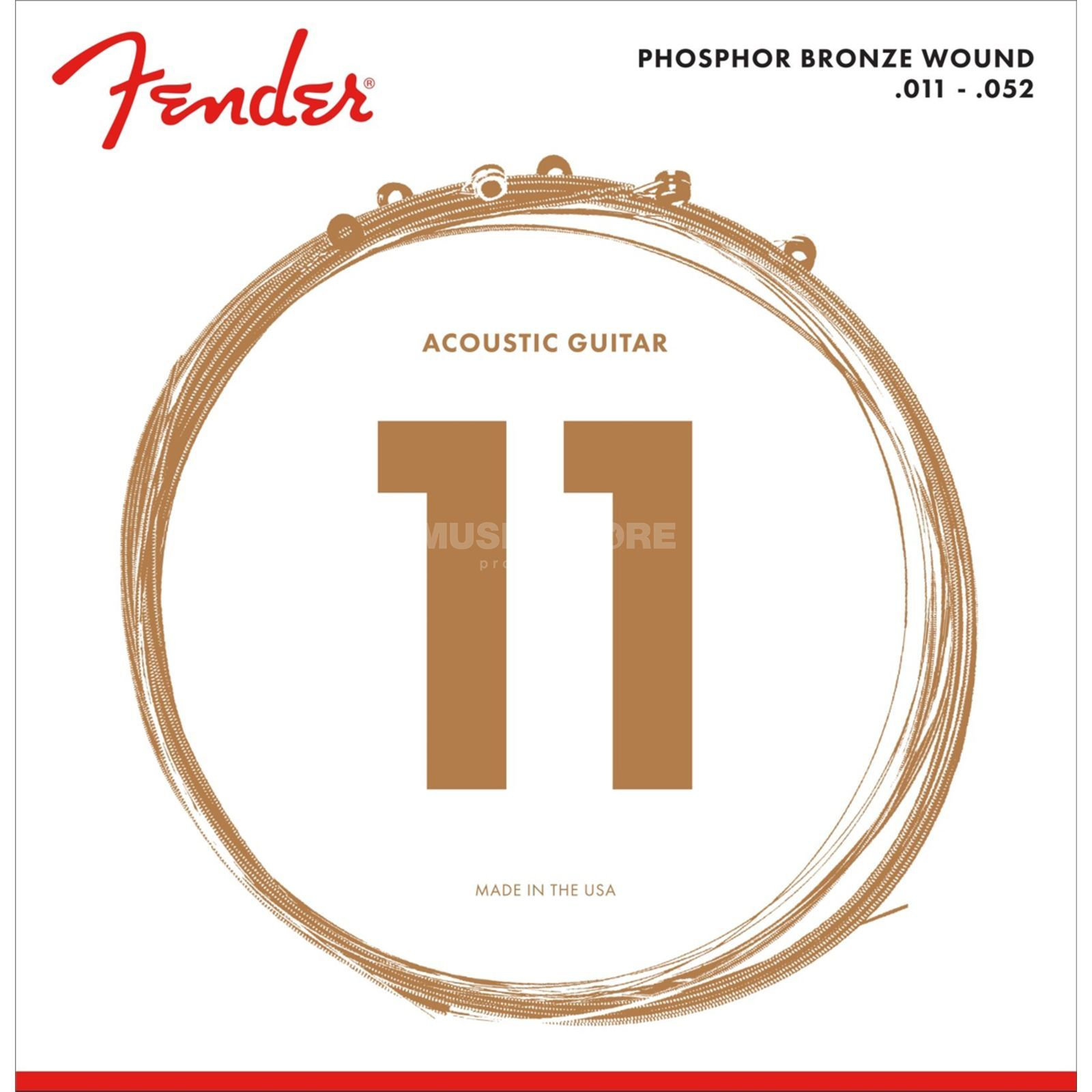 Fender Phosphor Bronze 60CL Acoustic  Guitar Strings   Produktbillede