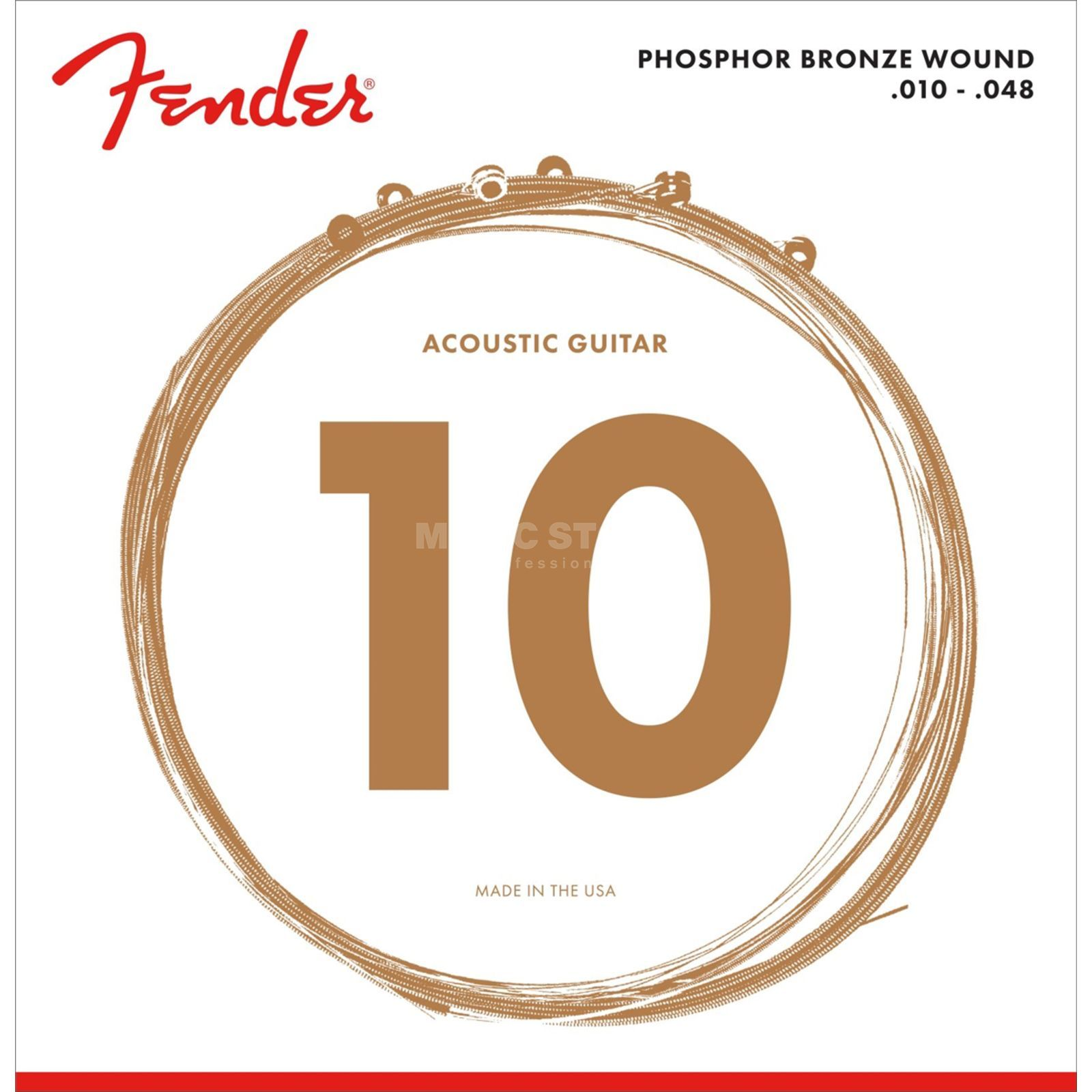 Fender Phosphor Bronze 60XL Acoustic  Guitar Strings   Produktbillede