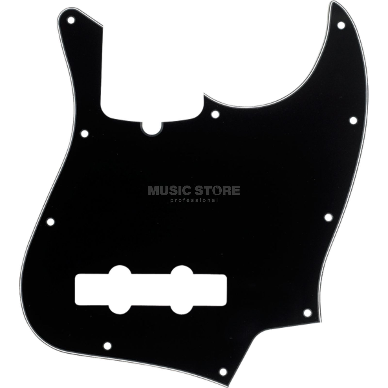 Fender Pickguard Standard Jazz Bass Black 3-Ply Produktbild