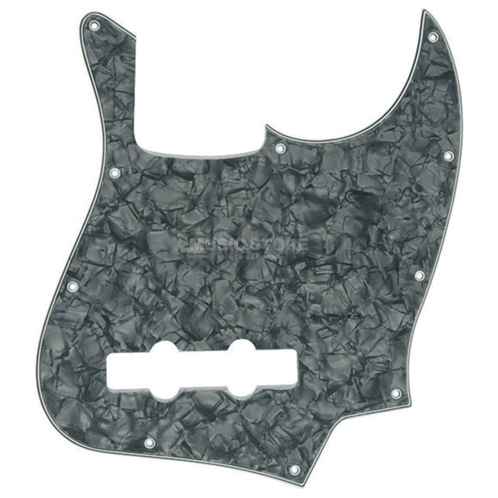 Fender Pickguard Standard Jazz Bass Black Pearl 4-Ply Изображение товара