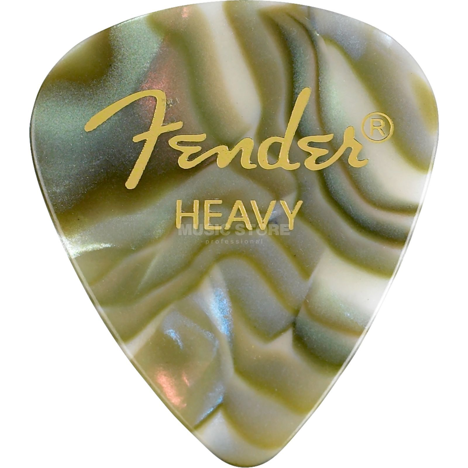 Fender Picks 351 Abalone heavy 12er Set Premium Celluloid Produktbild