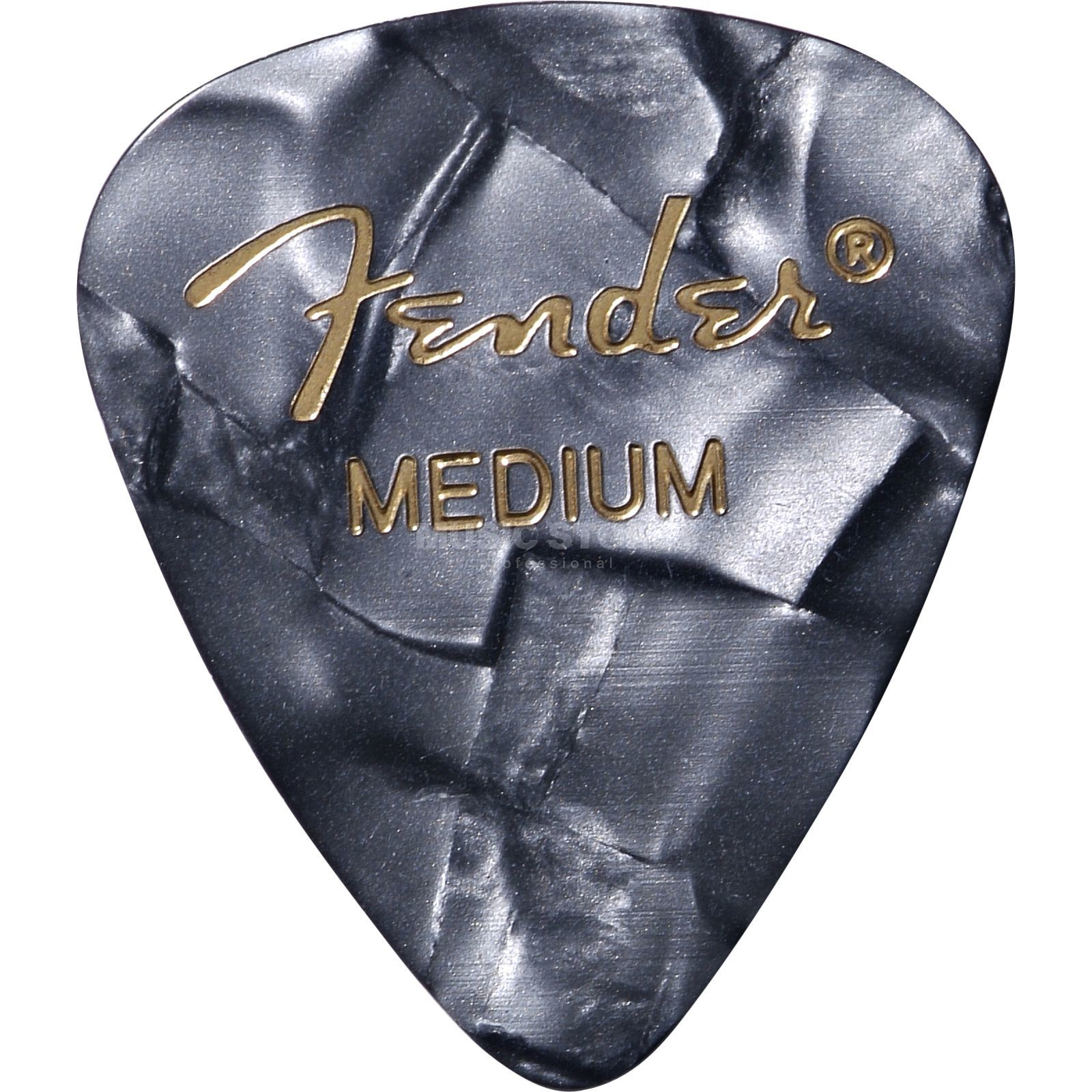 Fender Picks 351 Black Moto medium 12-Pack Premium Celluloid Produktbillede