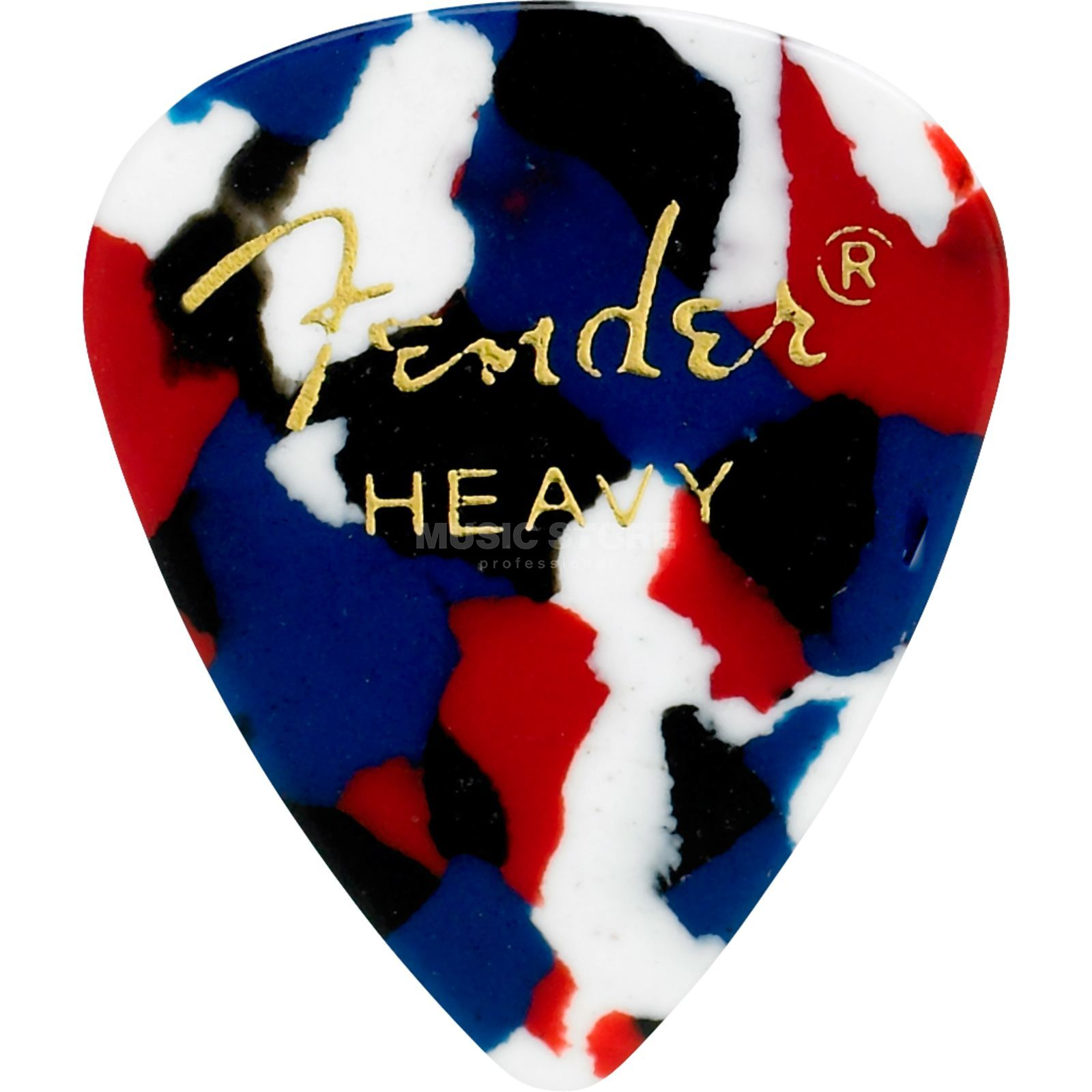 Fender Picks 351 Confetti heavy 12-Pack Classic Celluloid Produktbillede