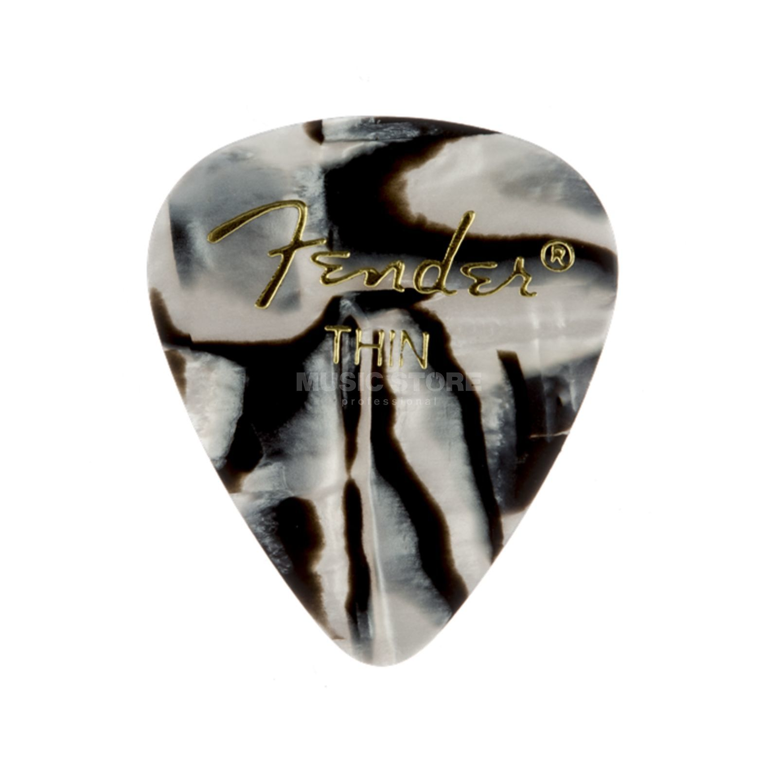 Fender Picks 351 Zebra thin 12er Set Premium Celluloid Produktbild