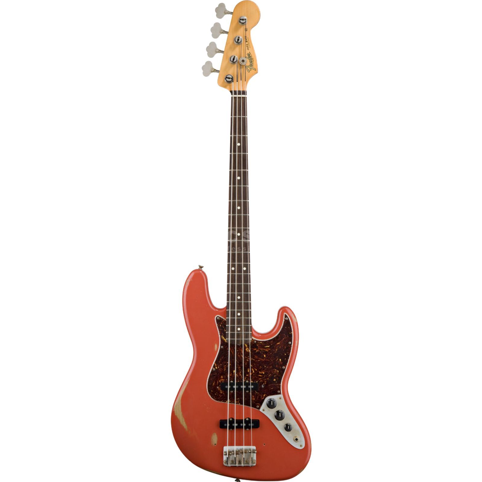 Fender Road Worn 60s Jazz Bass, Fiest a Red   Product Image
