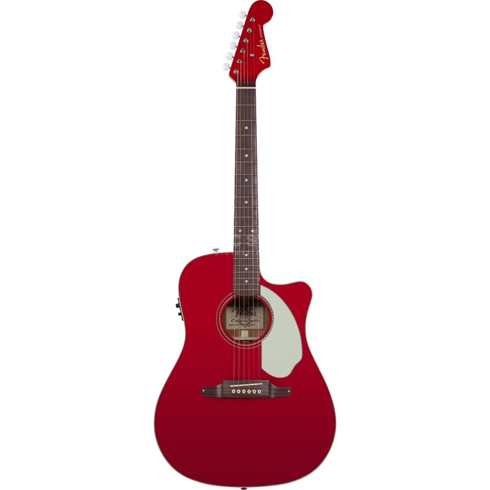 Fender Sonoran SCE Candy Apple Red Solid top, Fishman Isys III Produktbillede