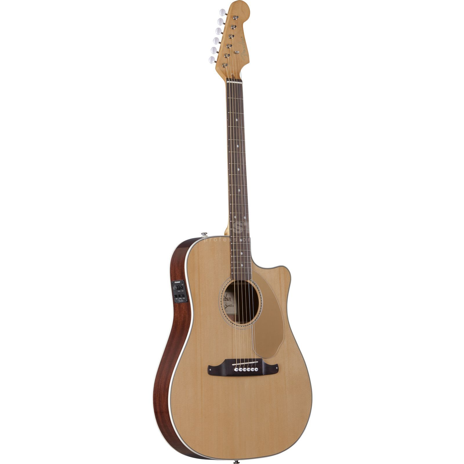 Fender Sonoran SCE Thinline Natural Solid top, Fishman Isys III Produktbillede