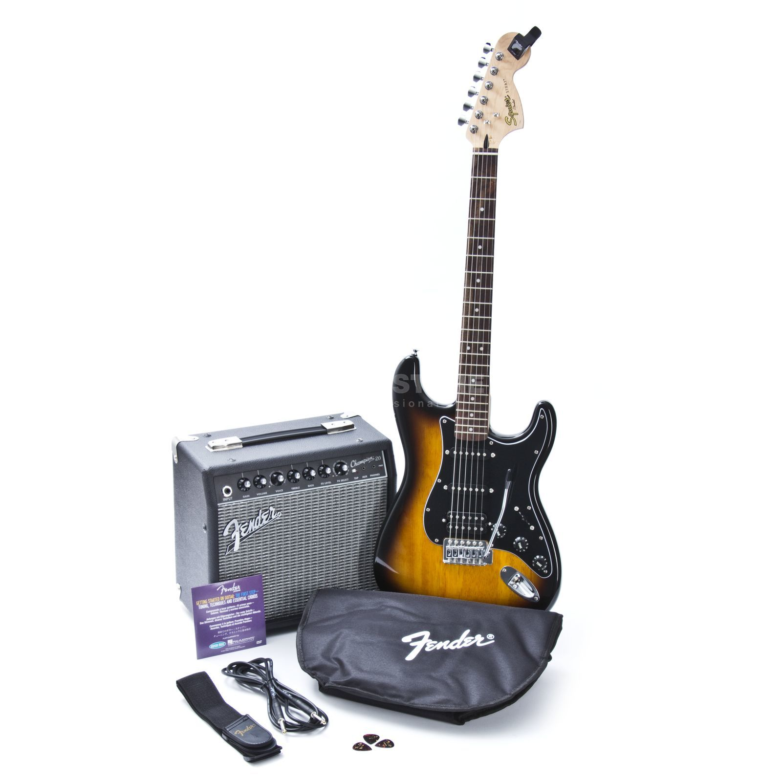 Fender Squier Affinity Series Strat HSS Pack Brown Sunburst Produktbild