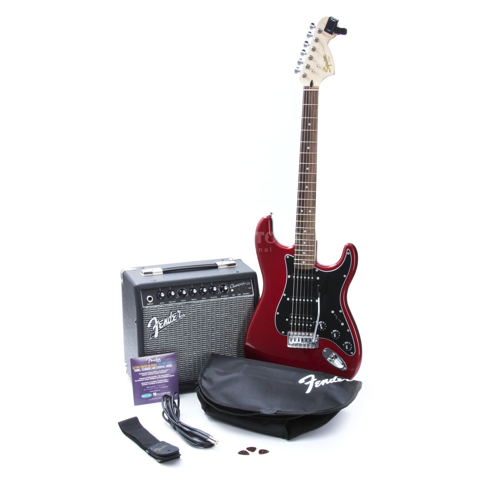 Fender Squier Affinity Strat HSS Pack Candy Apple Red Produktbild