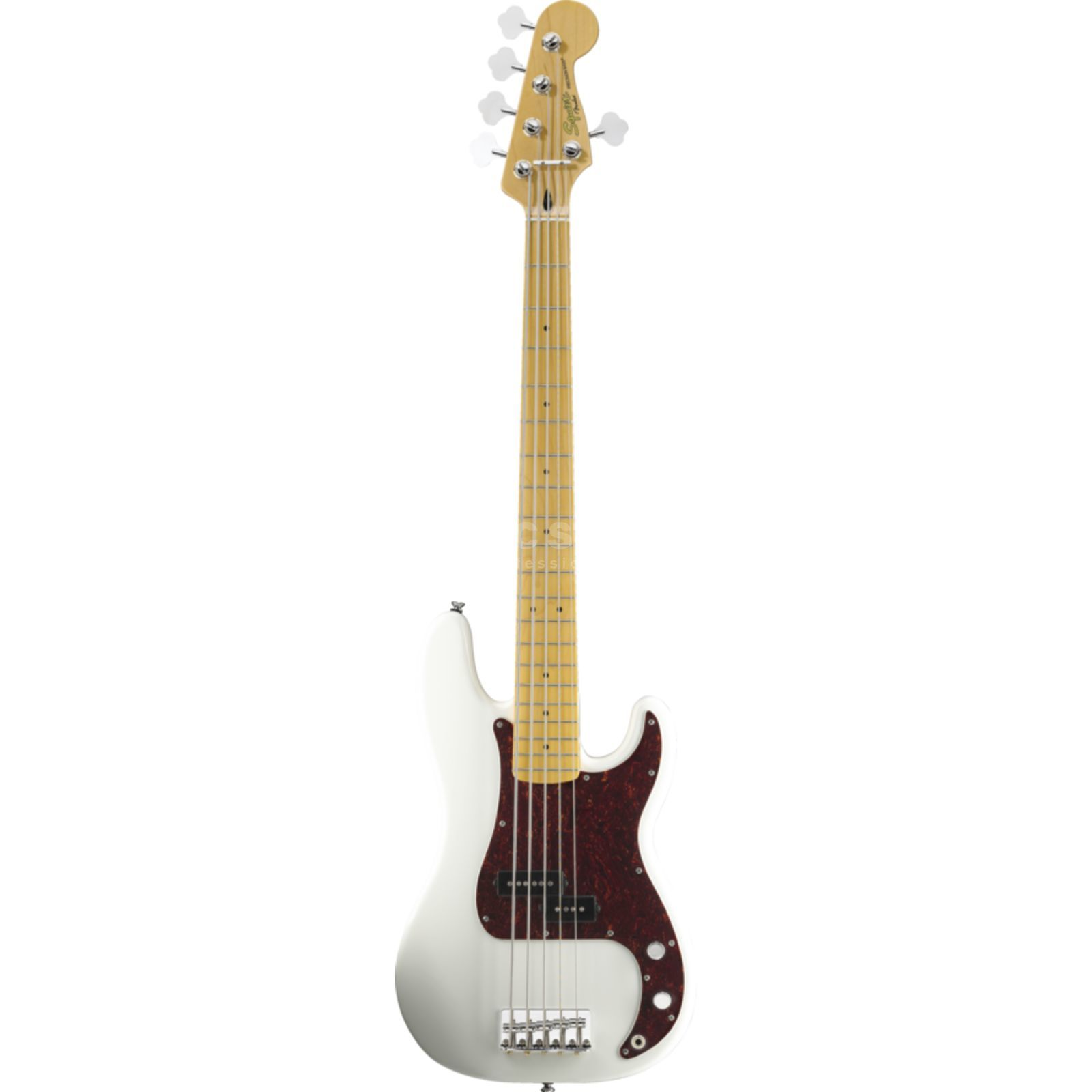 Fender Squier VM P-Bass V MN OWH Olympic White Product Image