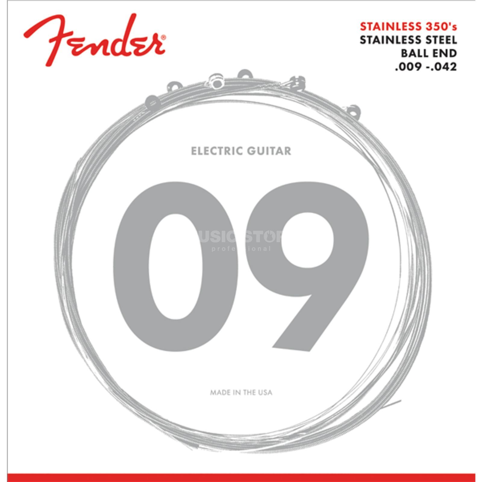 Fender Stainless 350L Electric Guitar  Strings   Produktbillede