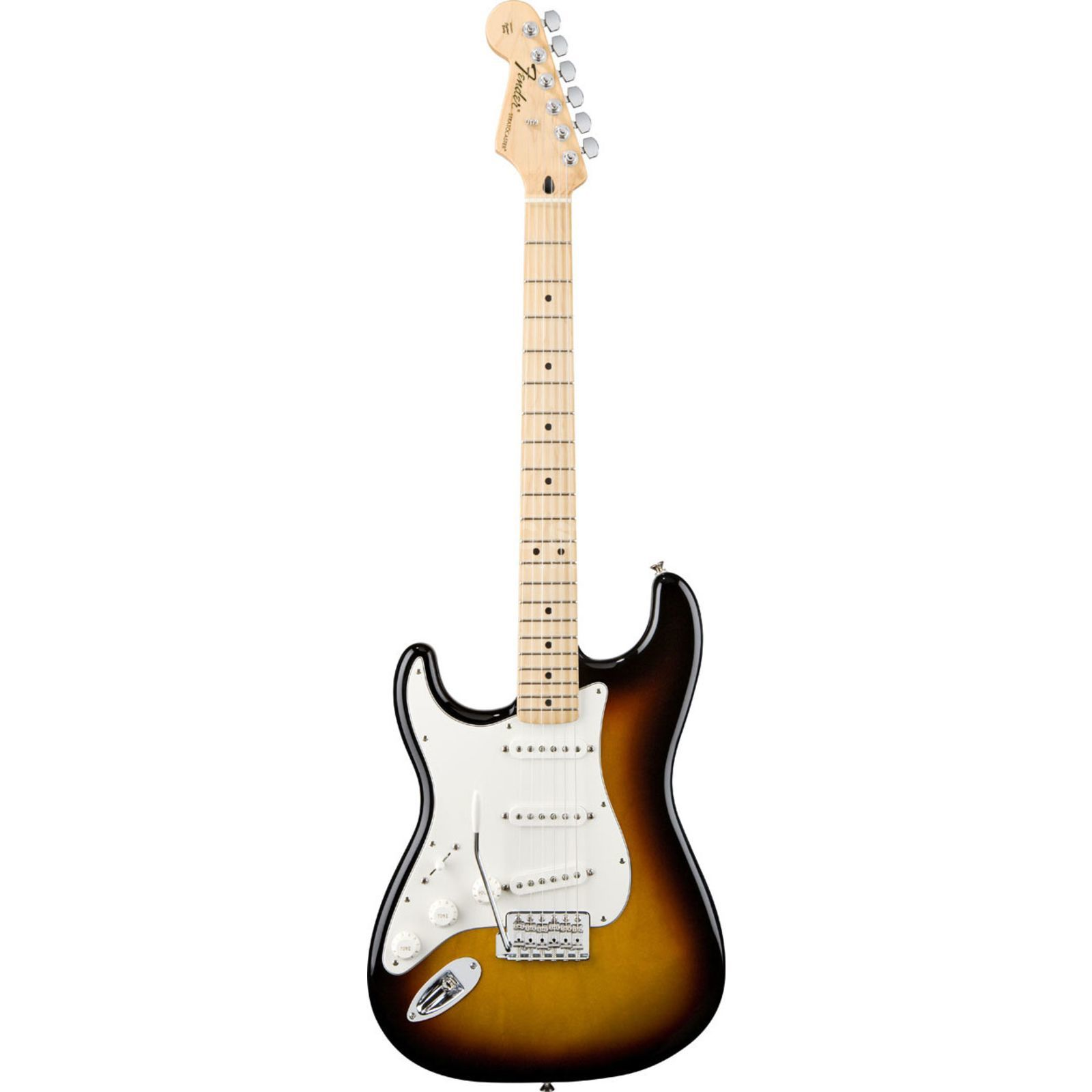 Fender Standard Stratocaster Lefthand MN Brown Sunburst Product Image
