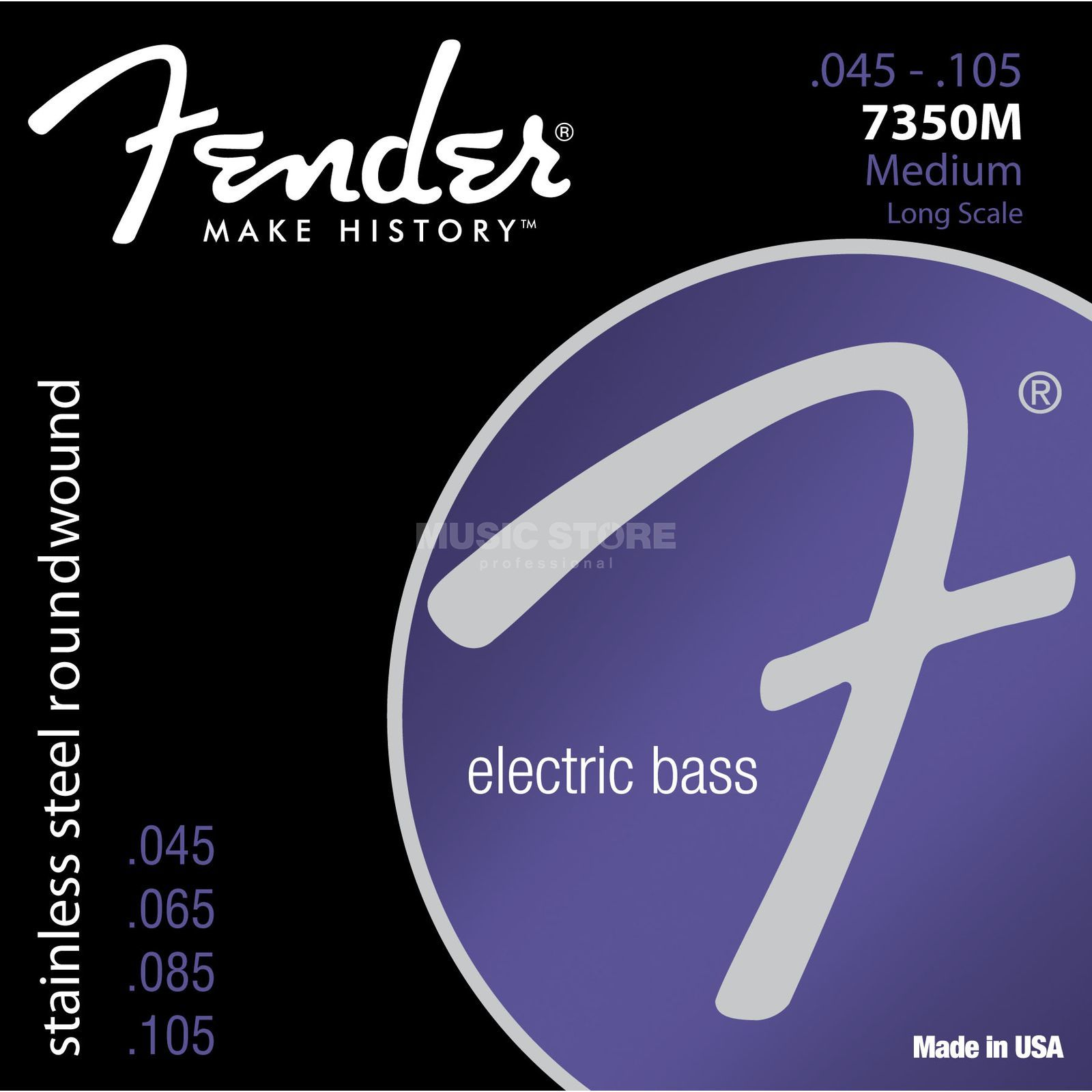 Fender Strings 7350M 45-105 Stainless Steel Roundwound Product Image