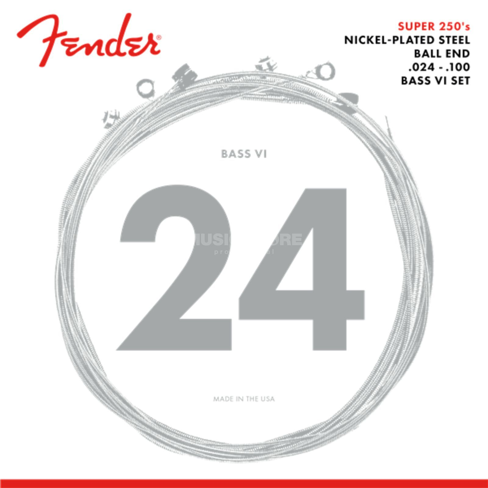 Fender Strings bas VI 250B6 24-84 nikkel Pl., roundwound Productafbeelding