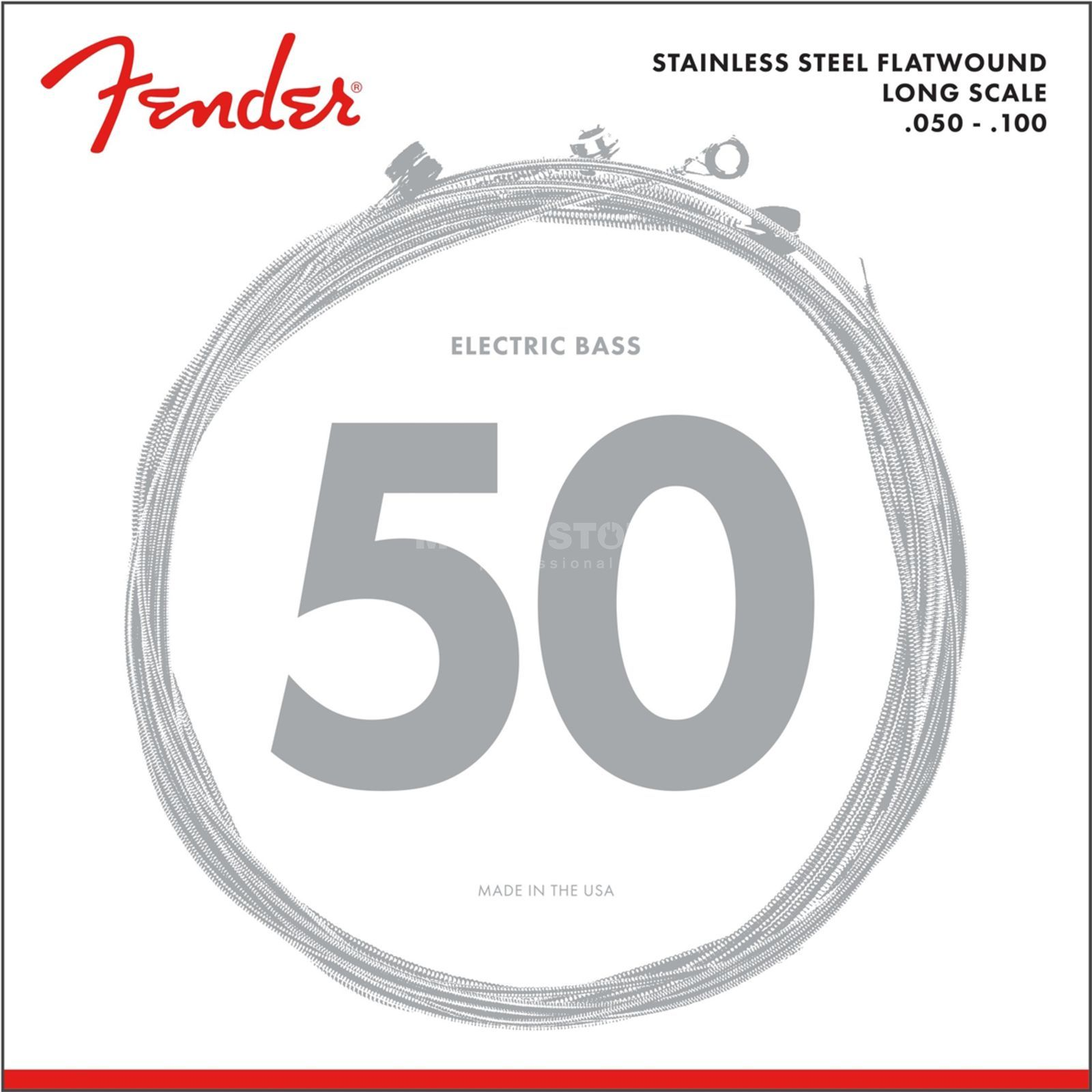 Fender Strings Flatwound 050 100 9050ML stainless steel Produktbild