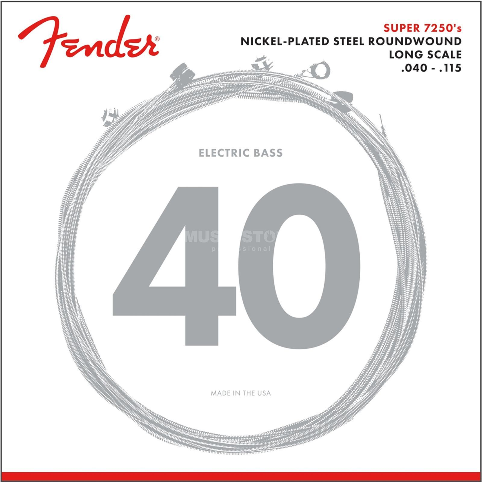 Fender Strings Super 7250 5L 40-115 Nickel Plated Steel, Roundwound, Longscale Produktbillede