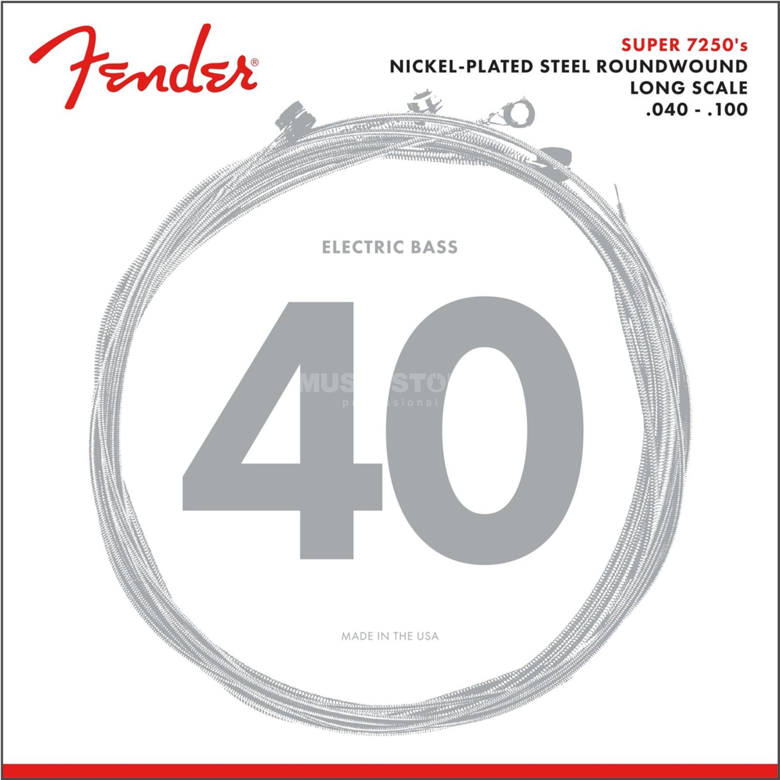 Fender Strings Super 7250 L 40-100 Nickel Pl., Roundw. Longscale Image du produit
