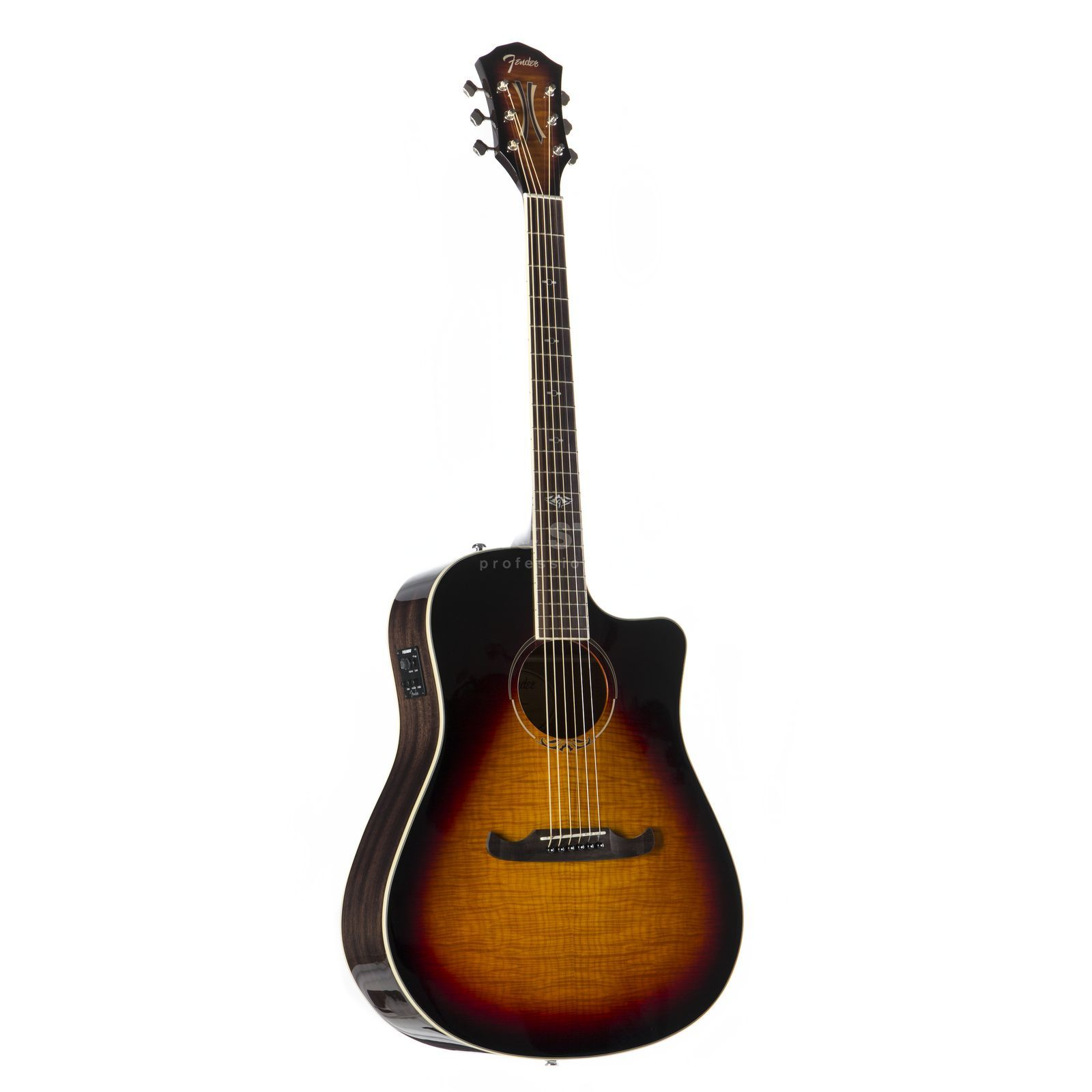 Fender T-Bucket 300CE Flame Maple 3-Color Sunburst Produktbillede
