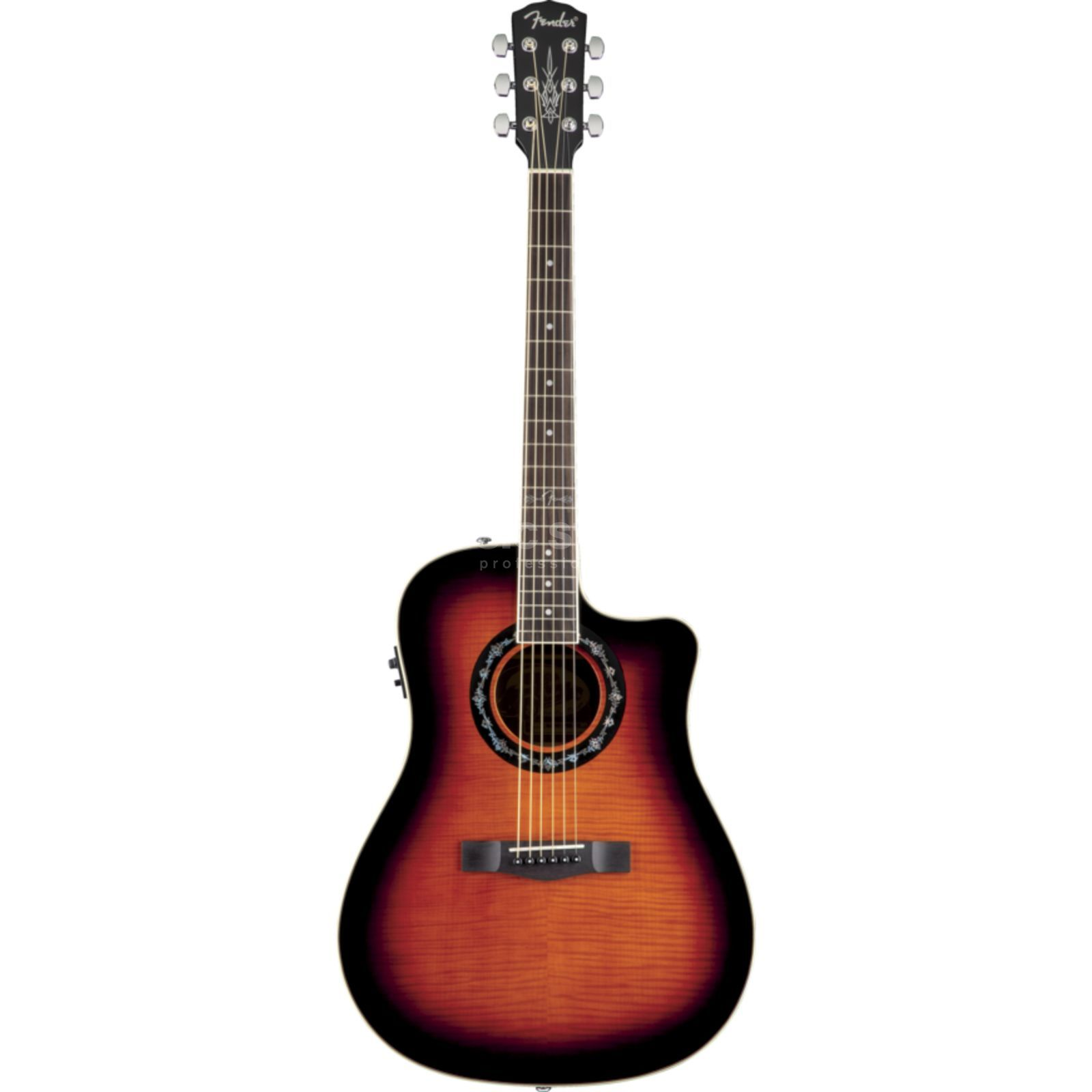 Fender T-Bucket 300CE Flame Maple 3CS 3-Colour Sunburst Produktbillede