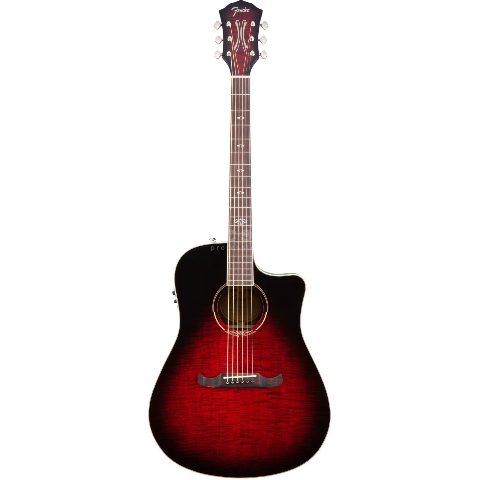 Fender T-Bucket 300CE Flame Maple Trans Cherry Burst Produktbillede