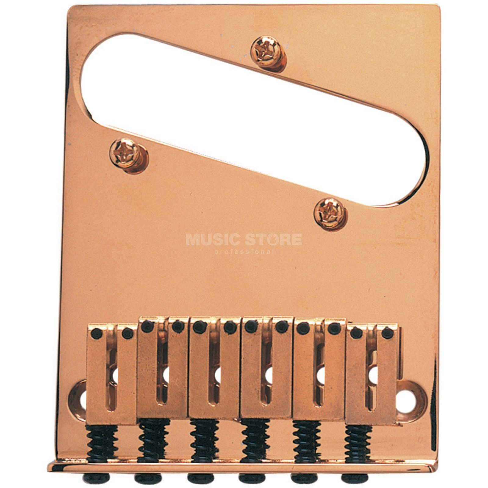 Fender Tele Bridge Set Am Series Gold, 6 Reiter Produktbillede