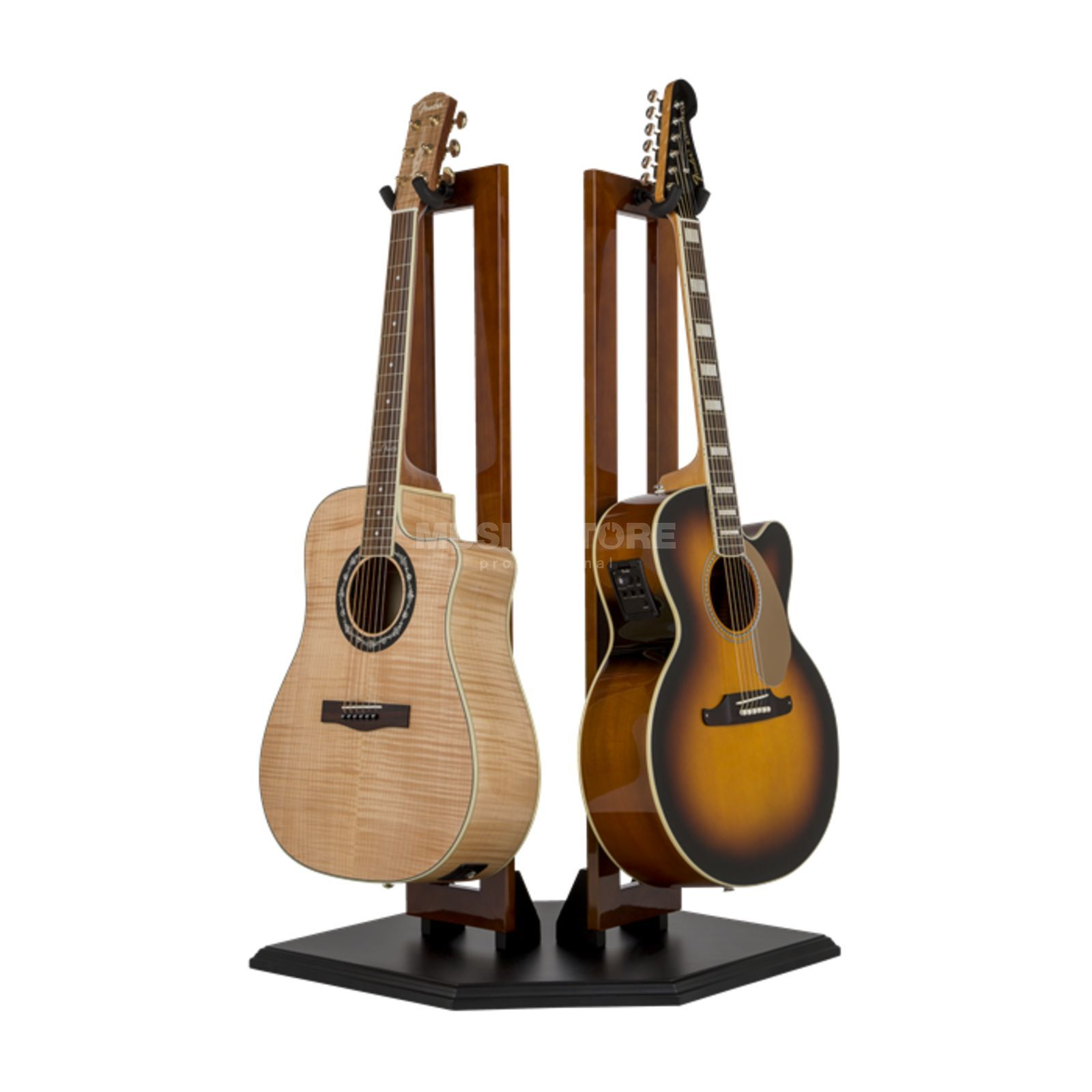 Fender Wood Hanging Display Stand - Double Guitar Stand Cherry Productafbeelding