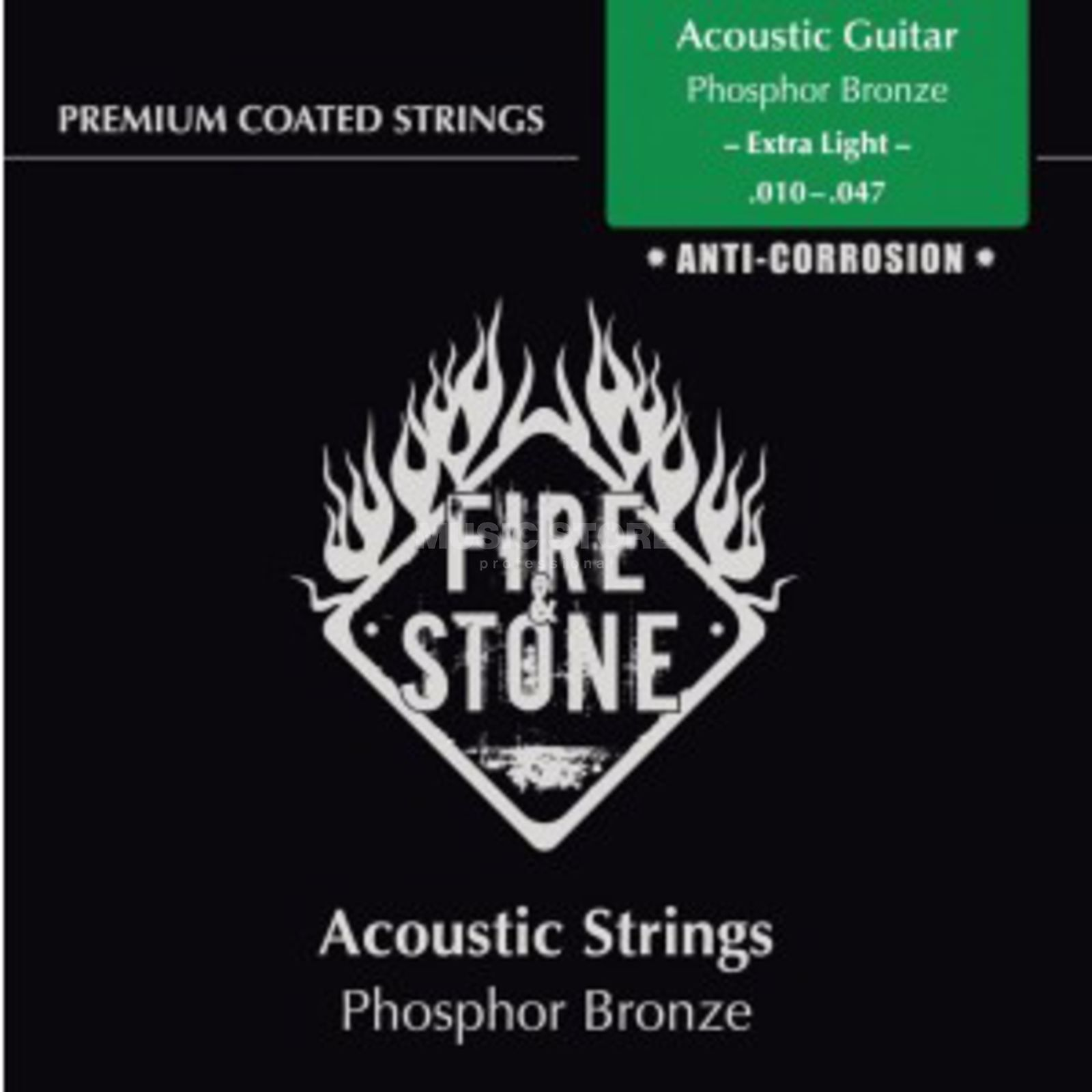 Fire & Stone A-Guit.Strings 10-47 Coated PB Extra light, Phosphor Bronze Produktbillede