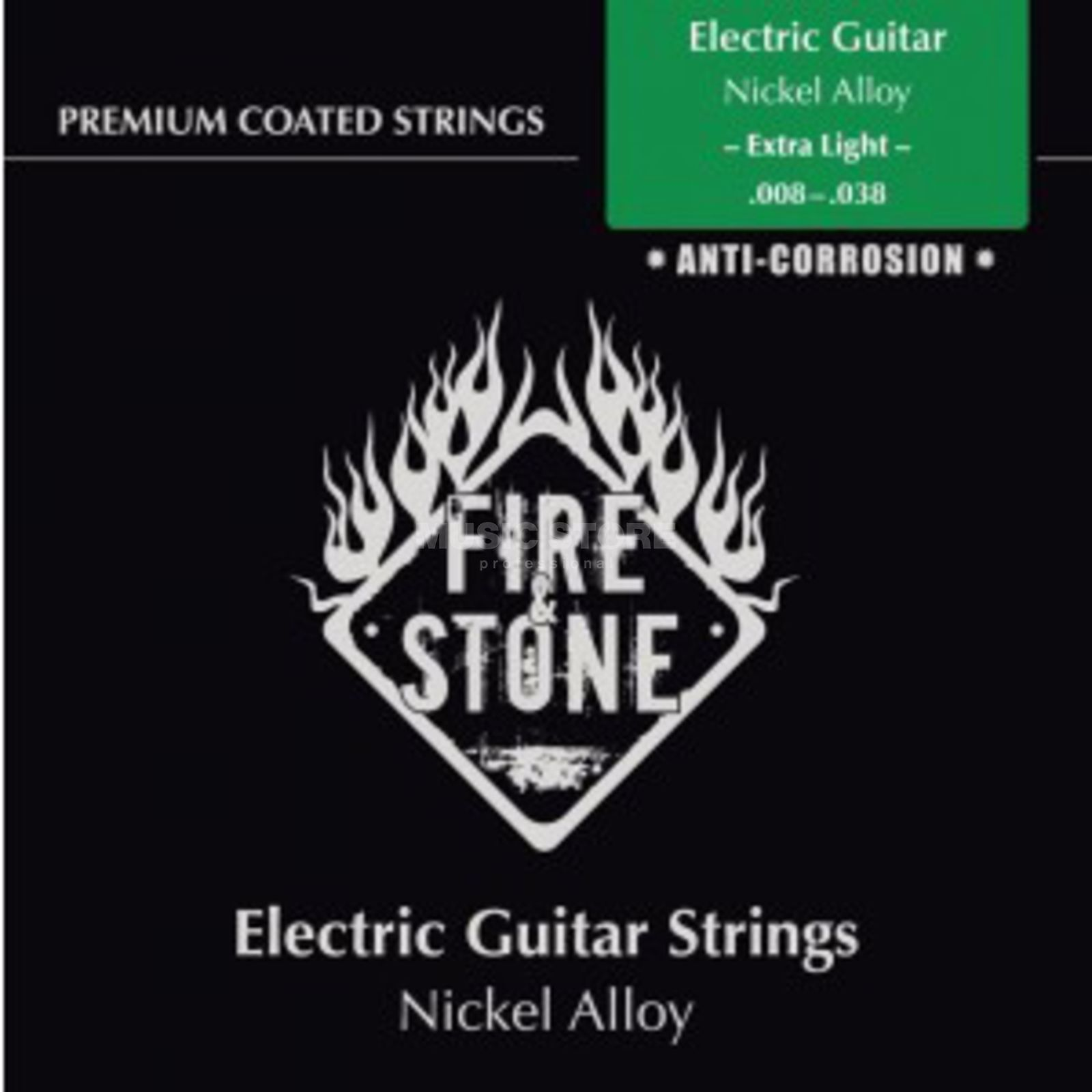Fire & Stone E-Guitar Strings 08-38 Coated Extra Light Produktbillede