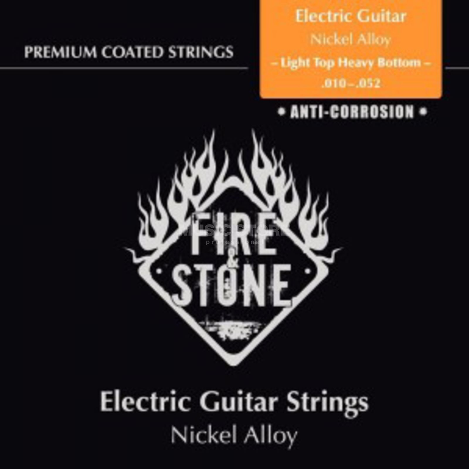 Fire & Stone E-Guitar Strings 10-52 Coated Light Top Heavy Bottom Produktbillede
