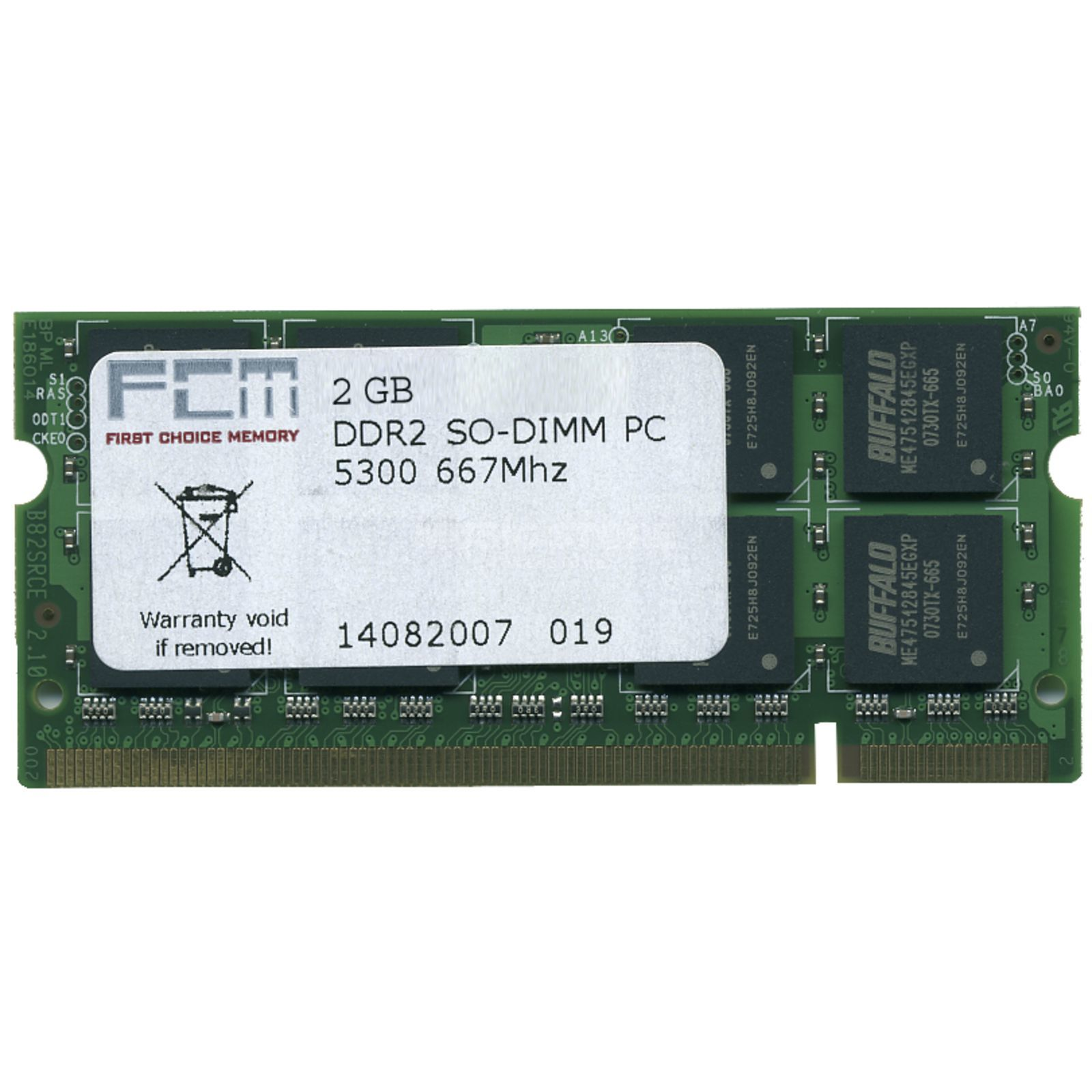 First Choice 2GB DDR2 PC5300 667GHz SO-DIMM MacBook / MBP 06/07 Produktbillede