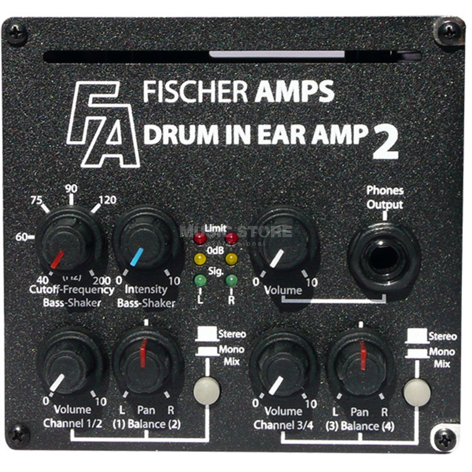 Fischer Amps Drum InEar Amp 2 incl.  Bass-Shaker +Holder Produktbillede