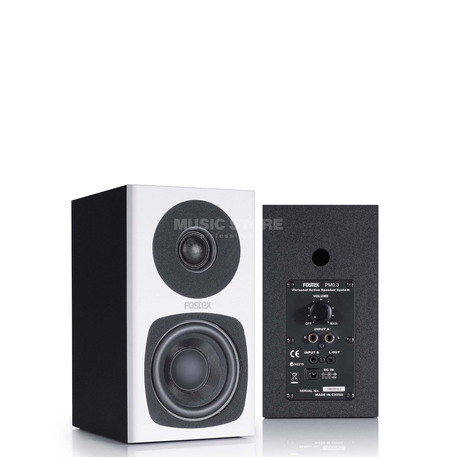 Fostex PM0.3d white Compact 2-way Studio Monitors Produktbillede