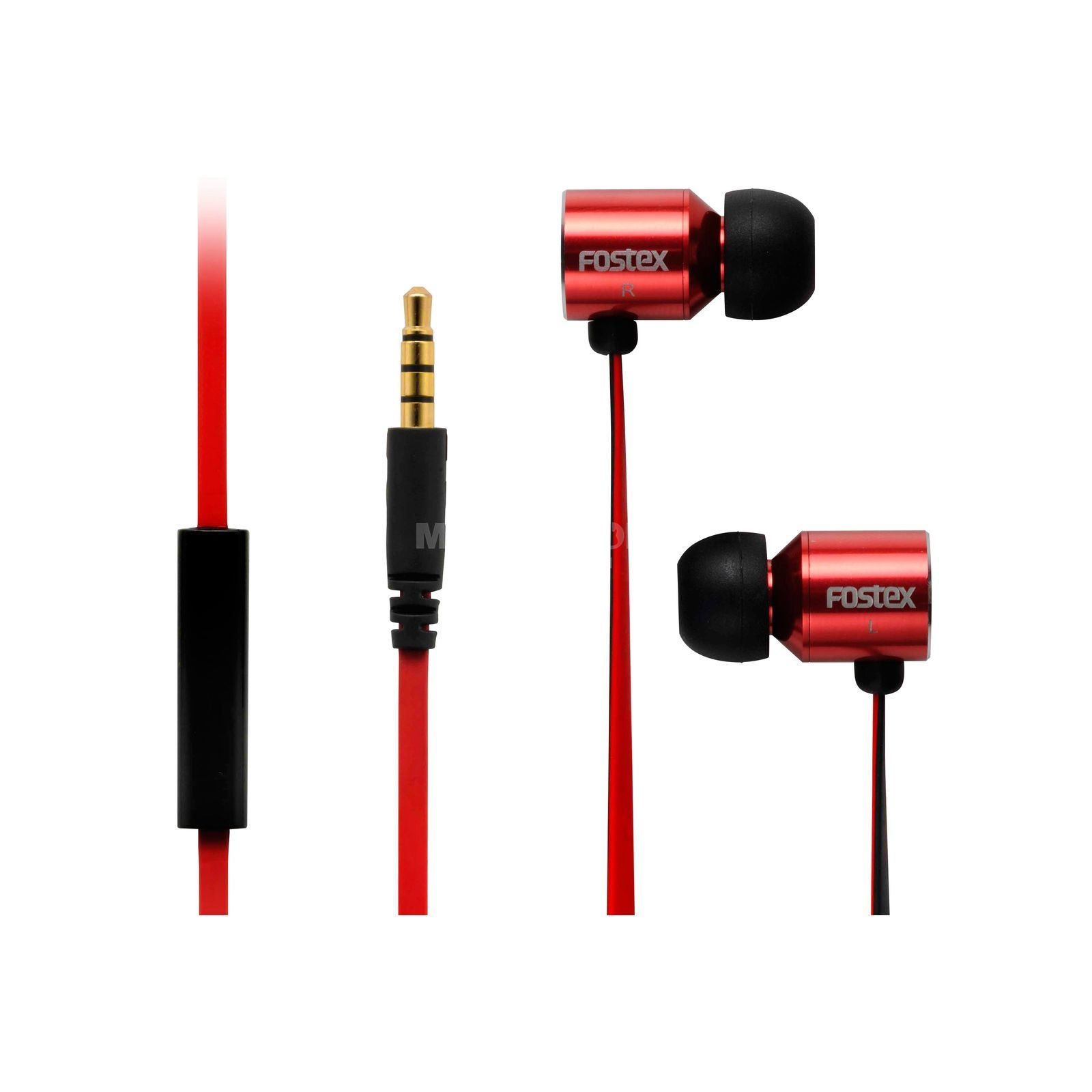 Fostex TE-03R Stereo-Ohrhörer / Mikro 20Hz-20kHz, 16 Ohm, rot Product Image