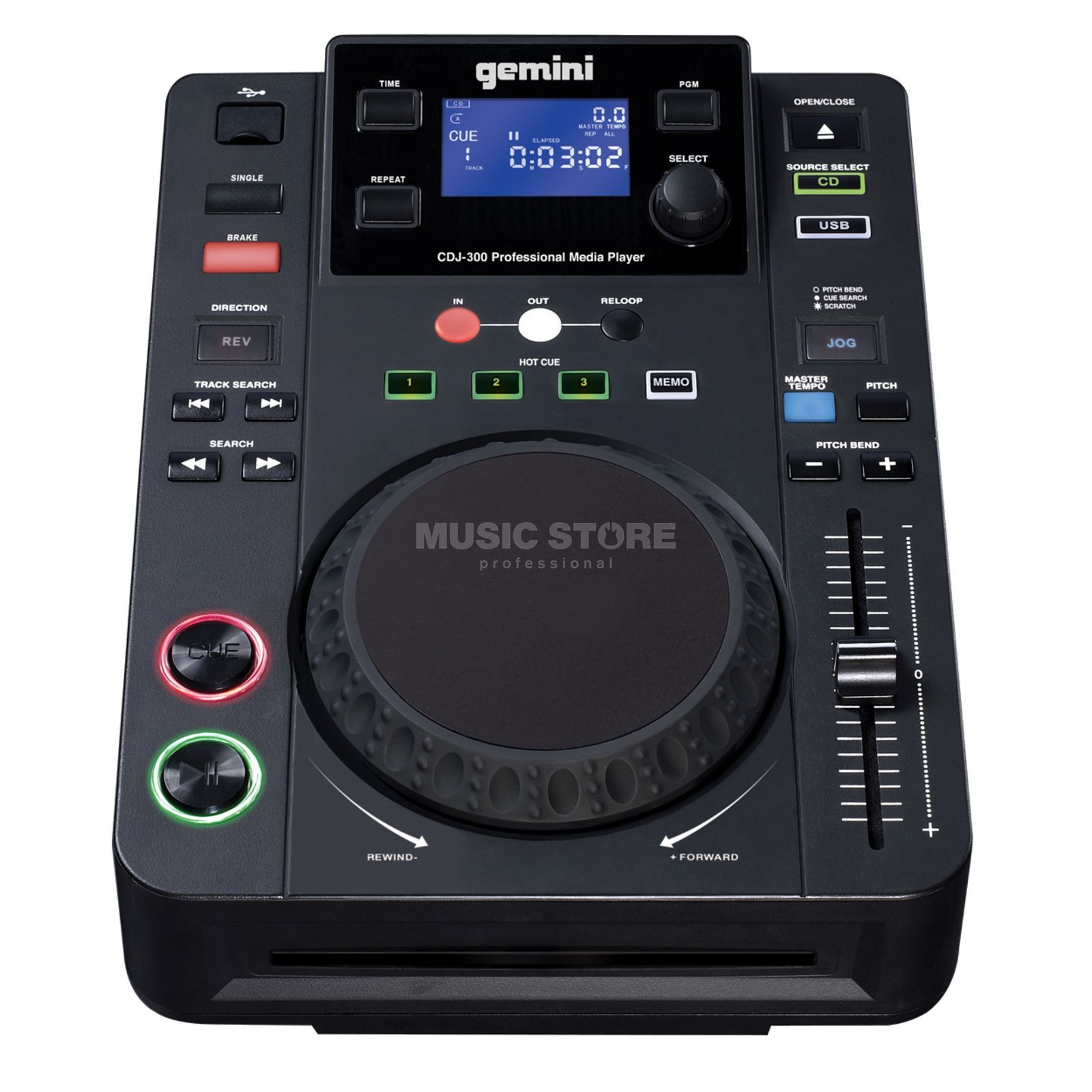 Gemini CDJ-300 CD/MP3 Player Productafbeelding