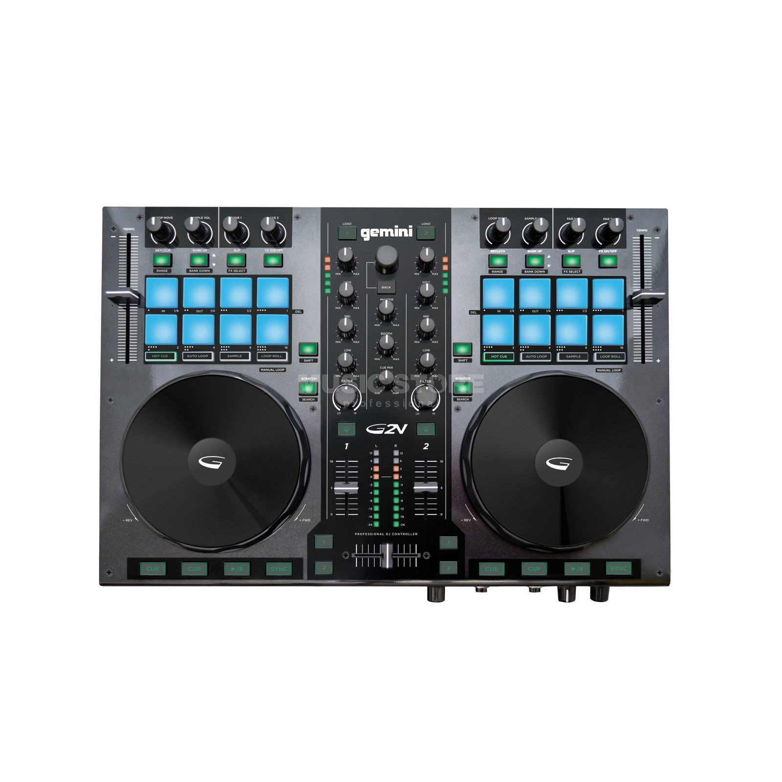 Gemini G2V 2 Channel DJ-Controller Product Image