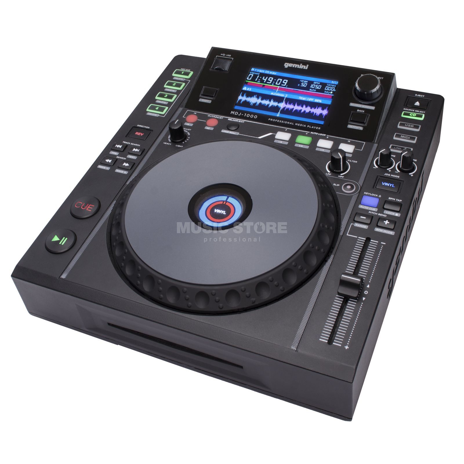 Gemini MDJ-1000 DJ Multimedia Player Product Image