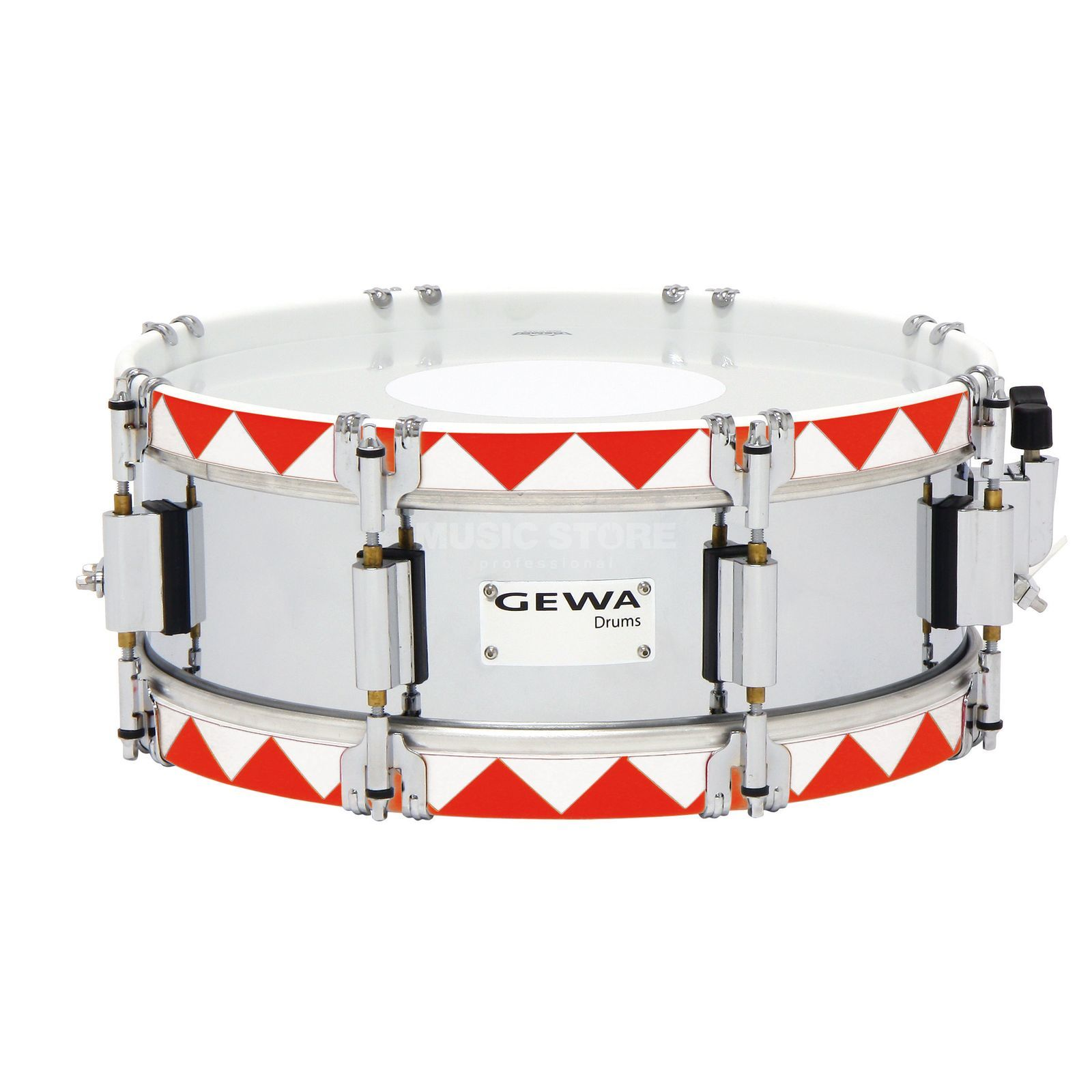 "Gewa Marching Snare 14""x5"", Historic Hoop, Red Produktbillede"