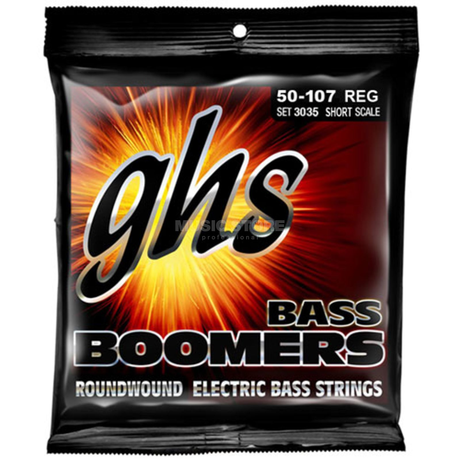 GHS 4 String Bass Boomers 50-107 Short Scale 50-70-90-107 Product Image