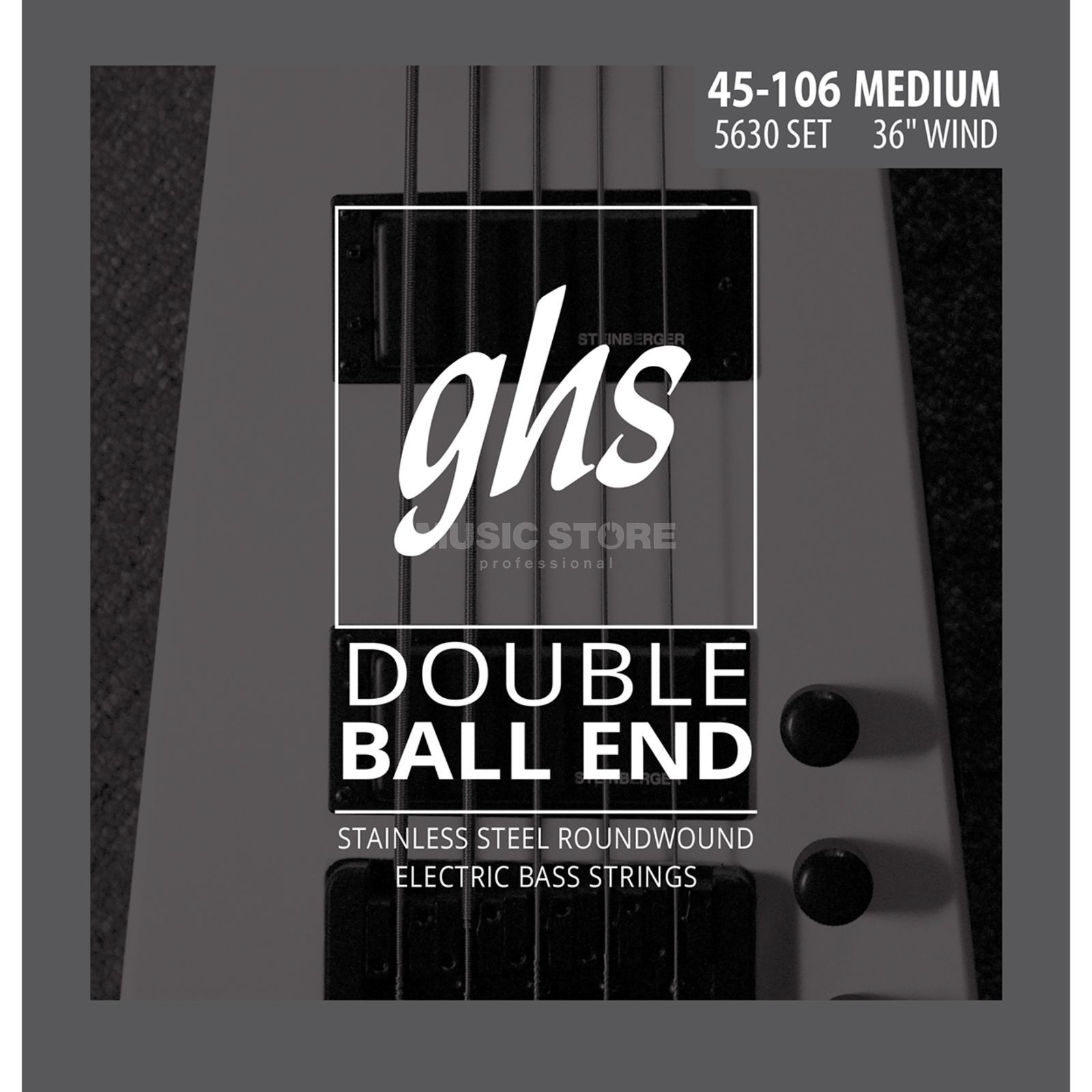 GHS 4 String Bass Double Ball 45-106 45-63-84-106 Product Image
