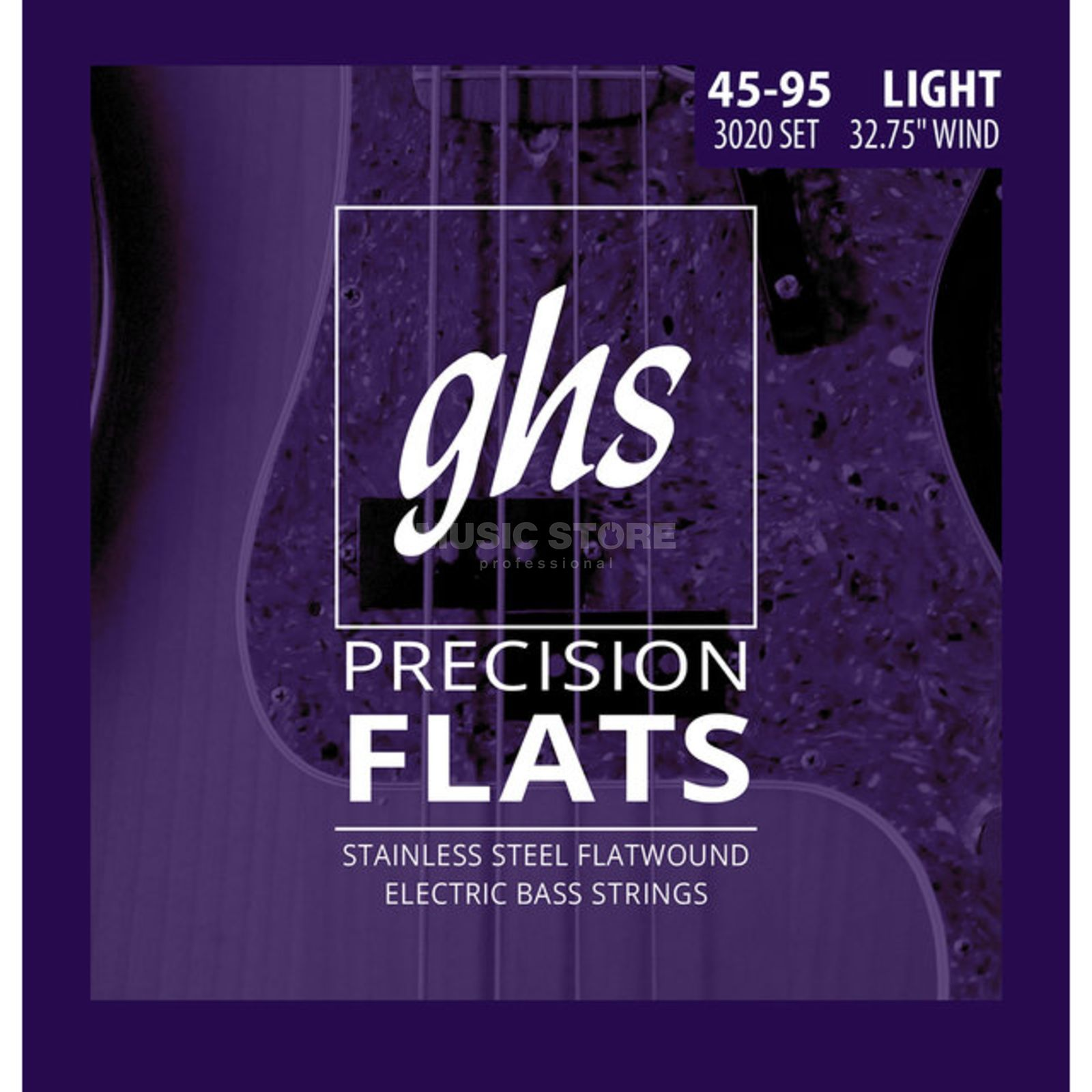GHS 4 String Bass Precision Flatwound Short Scale 45-60-75-95 Immagine prodotto