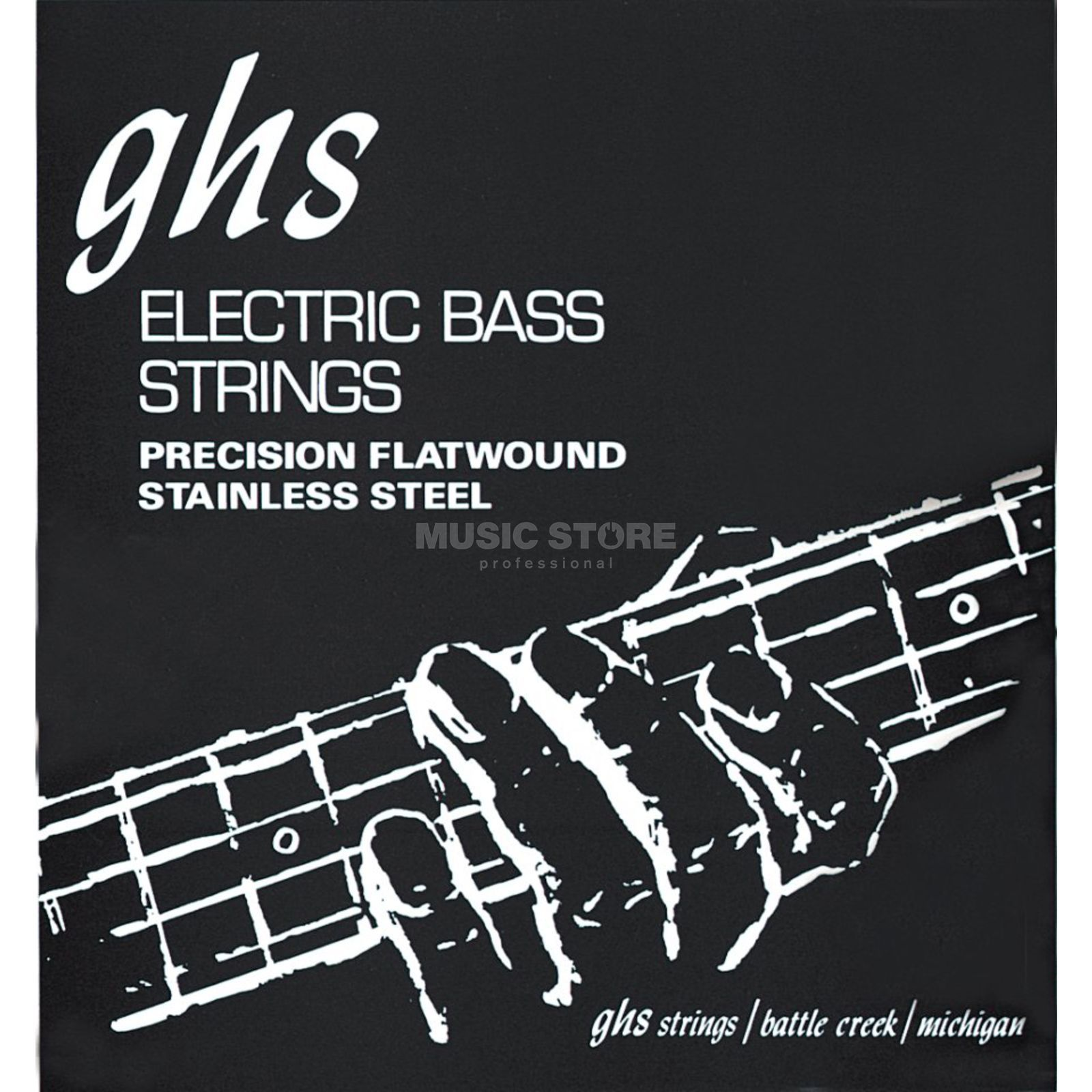 GHS 4er bas Precision Flat 45-105 Long Scale Plus 45-65-85-105 Productafbeelding