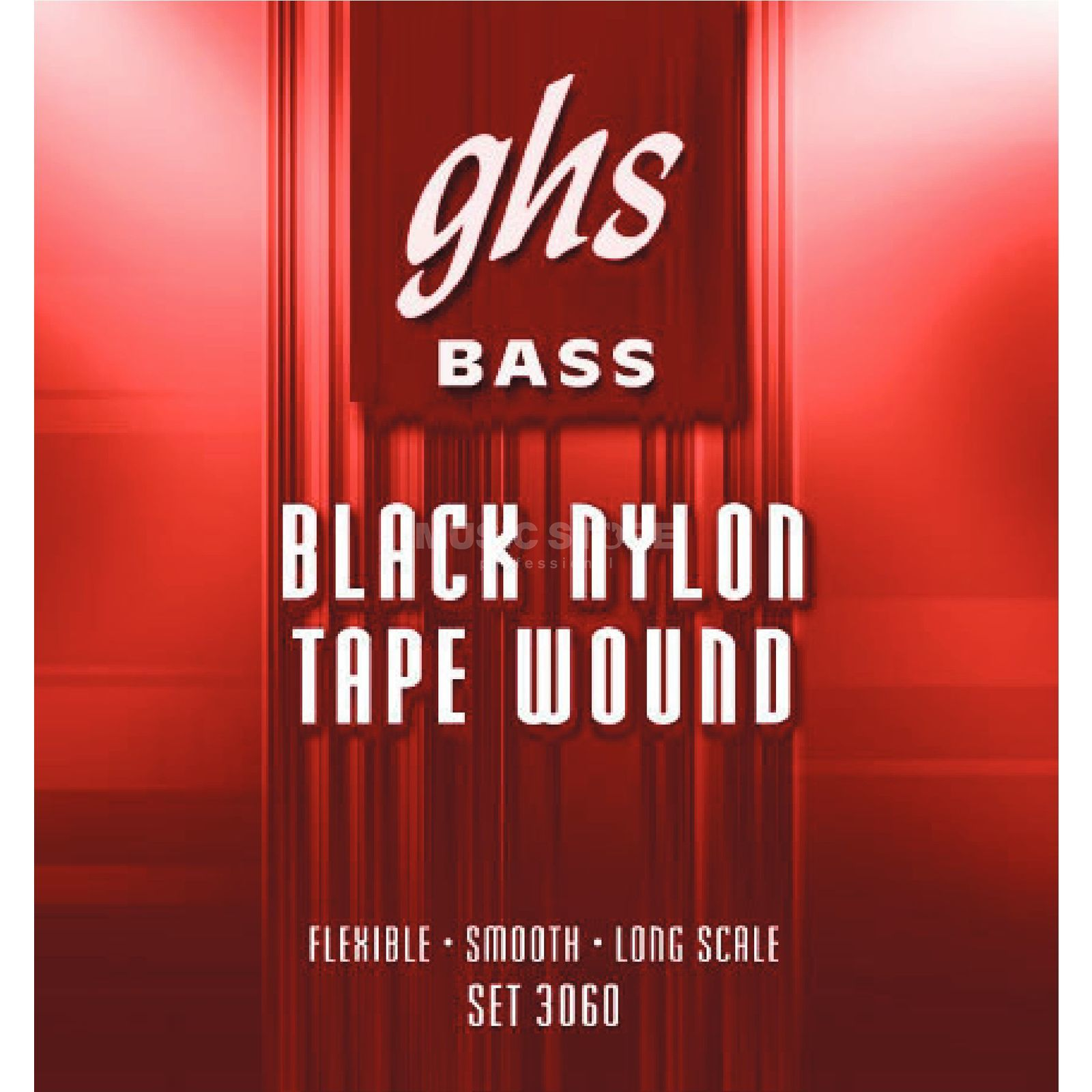 GHS 5 String Bass Tapewound Black Nylon 50-70-90-105-125 Product Image