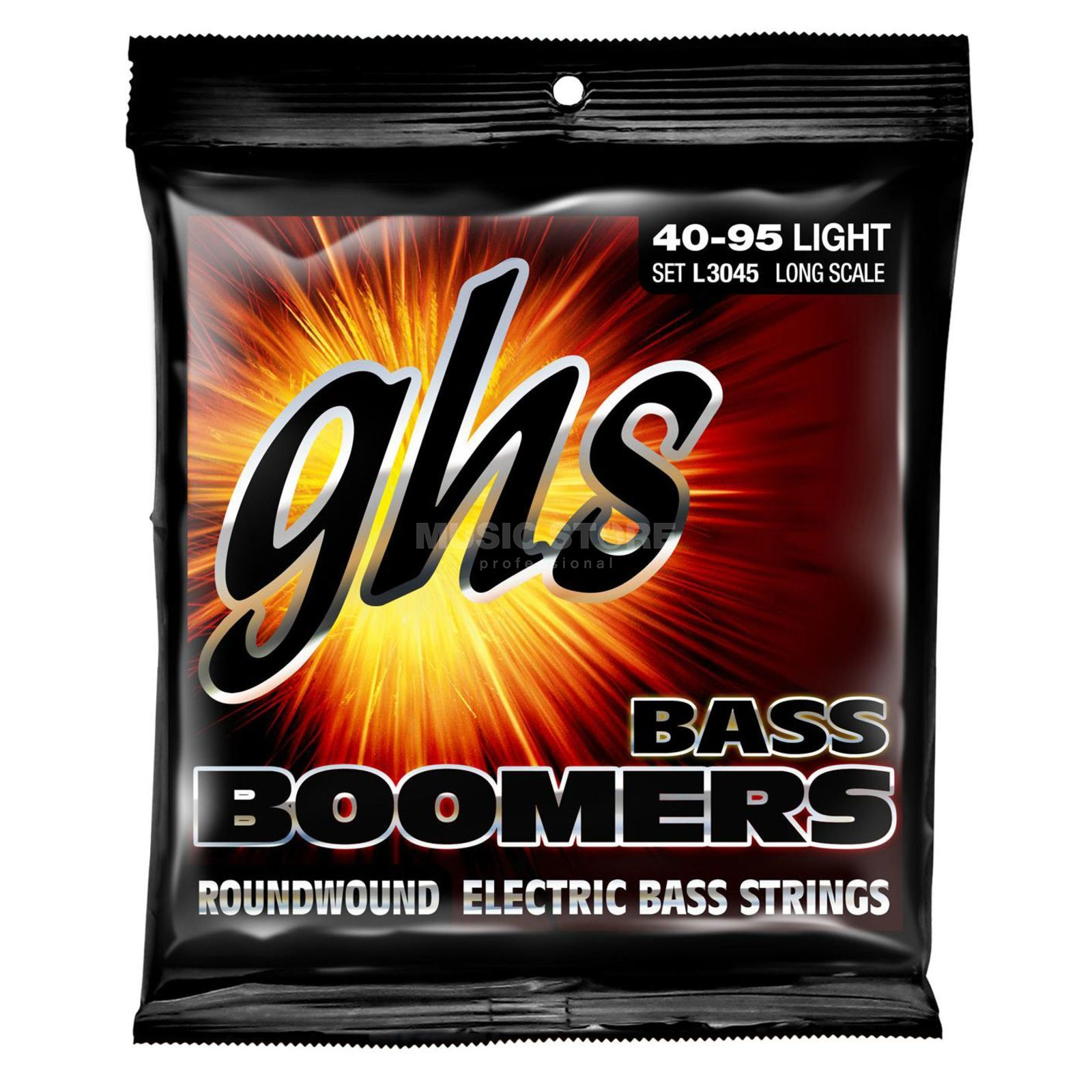 GHS E-Bas,4er,40-95,Boomers Roundwound Long Scale Product Image