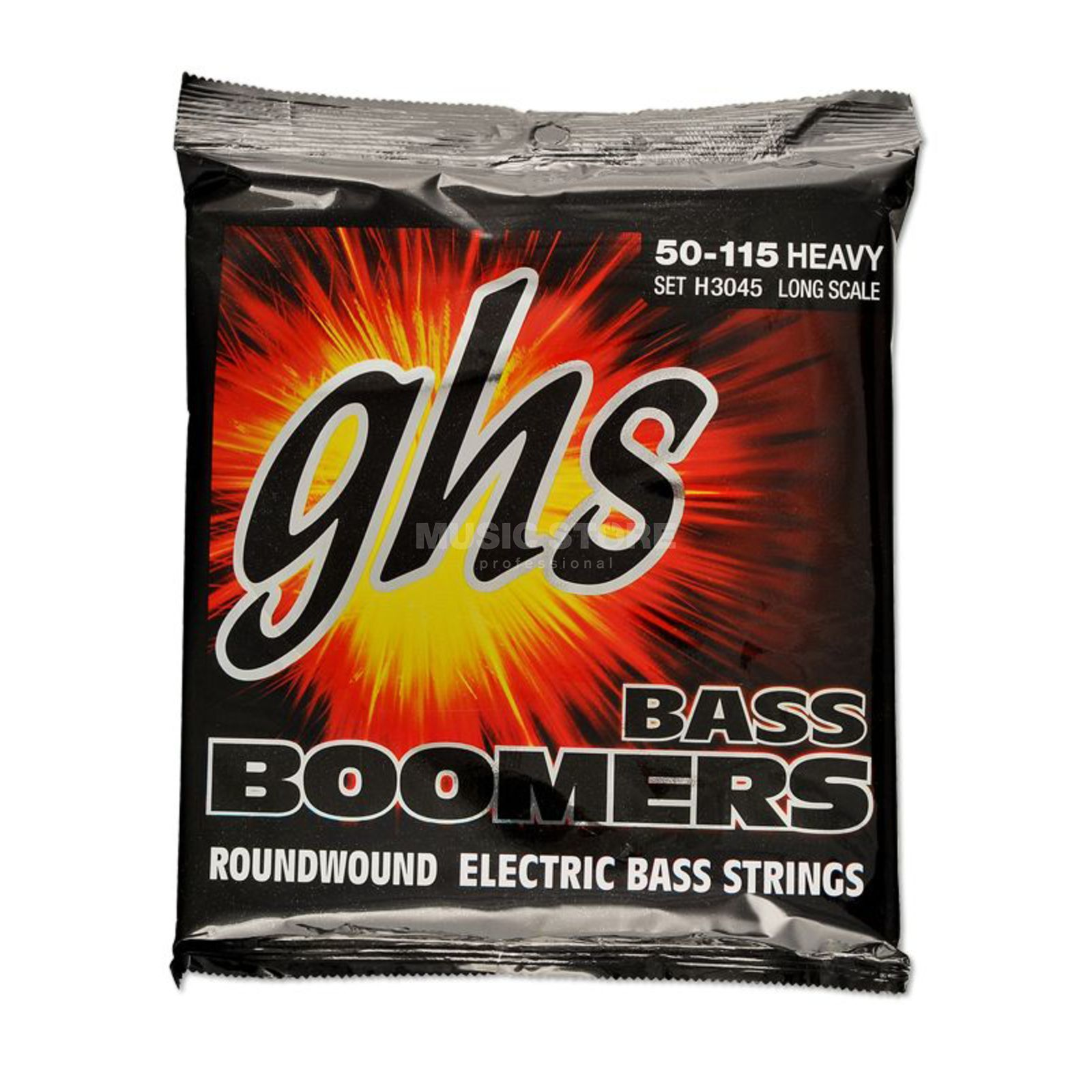 GHS E-Bass,4er,50-115,Boomers Roundwound Long Scale Изображение товара