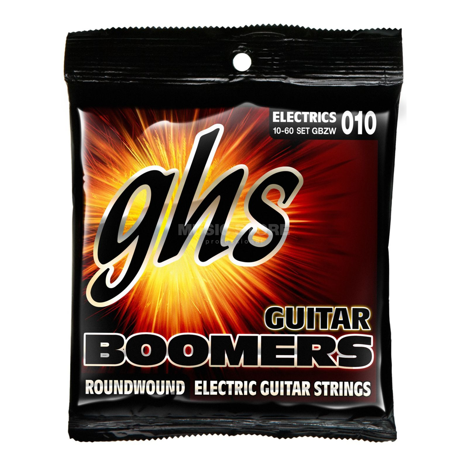 GHS E-Guit.Strings,10-60,Boomers Nickelplated Roundwound Produktbillede