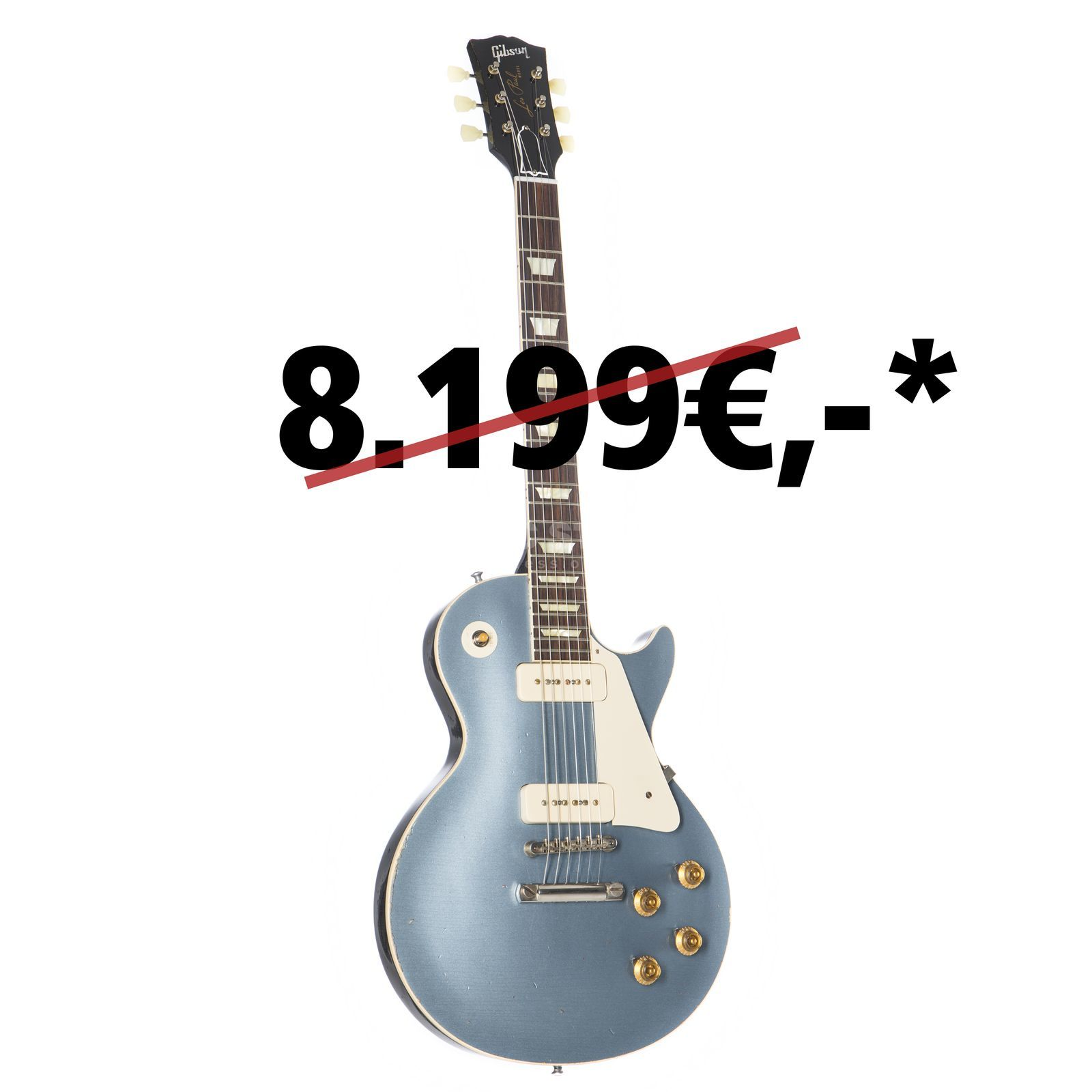Gibson 1956 Les Paul Reissue Heavy Aged Pelham Blue #64316 Product Image