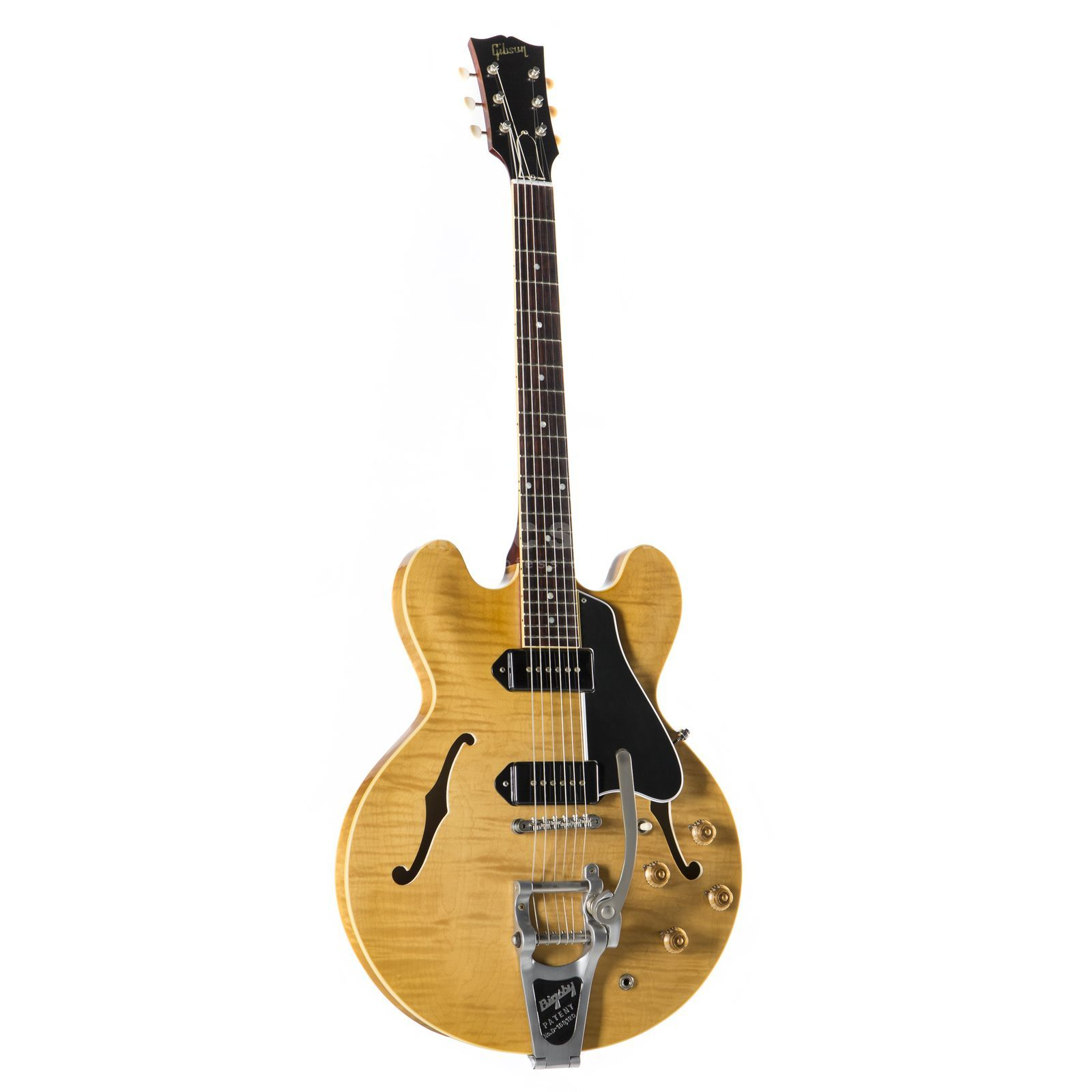 Gibson 1961 ES-330TD Figured Bigsby VOS Dark Natural # Produktbillede