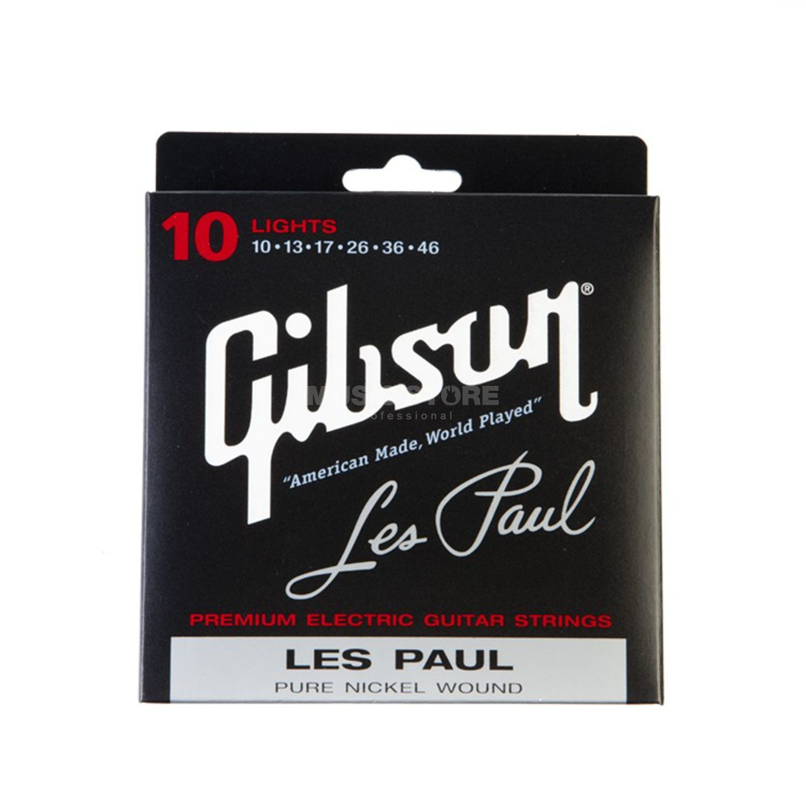 Gibson E-Guitar Strings 10-46 LesPaul Pure Nickel Wound Produktbillede