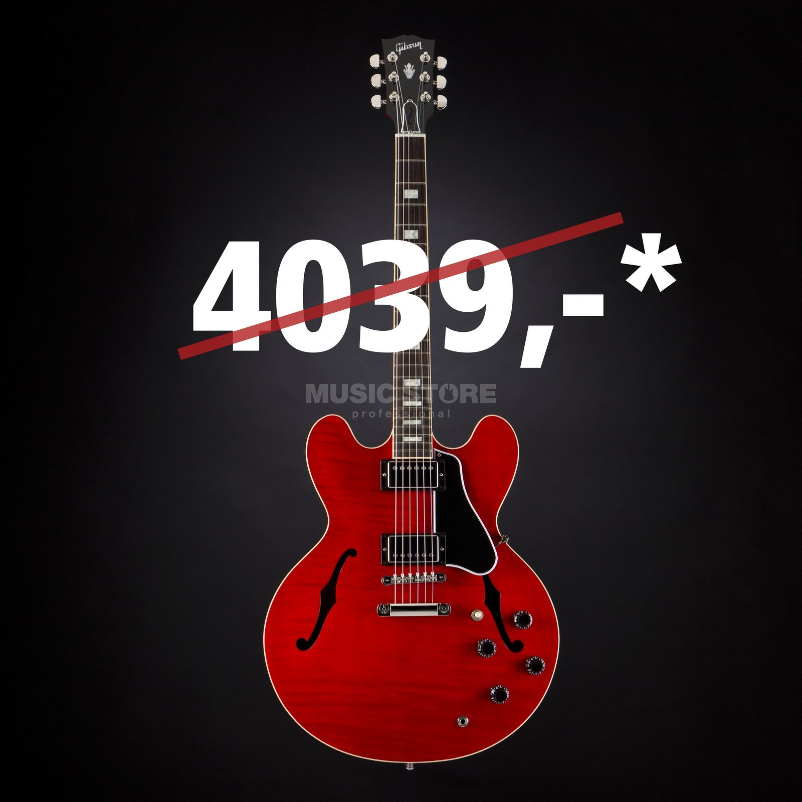 Gibson ES-335 Slim Neck Cherry #11036713 Product Image
